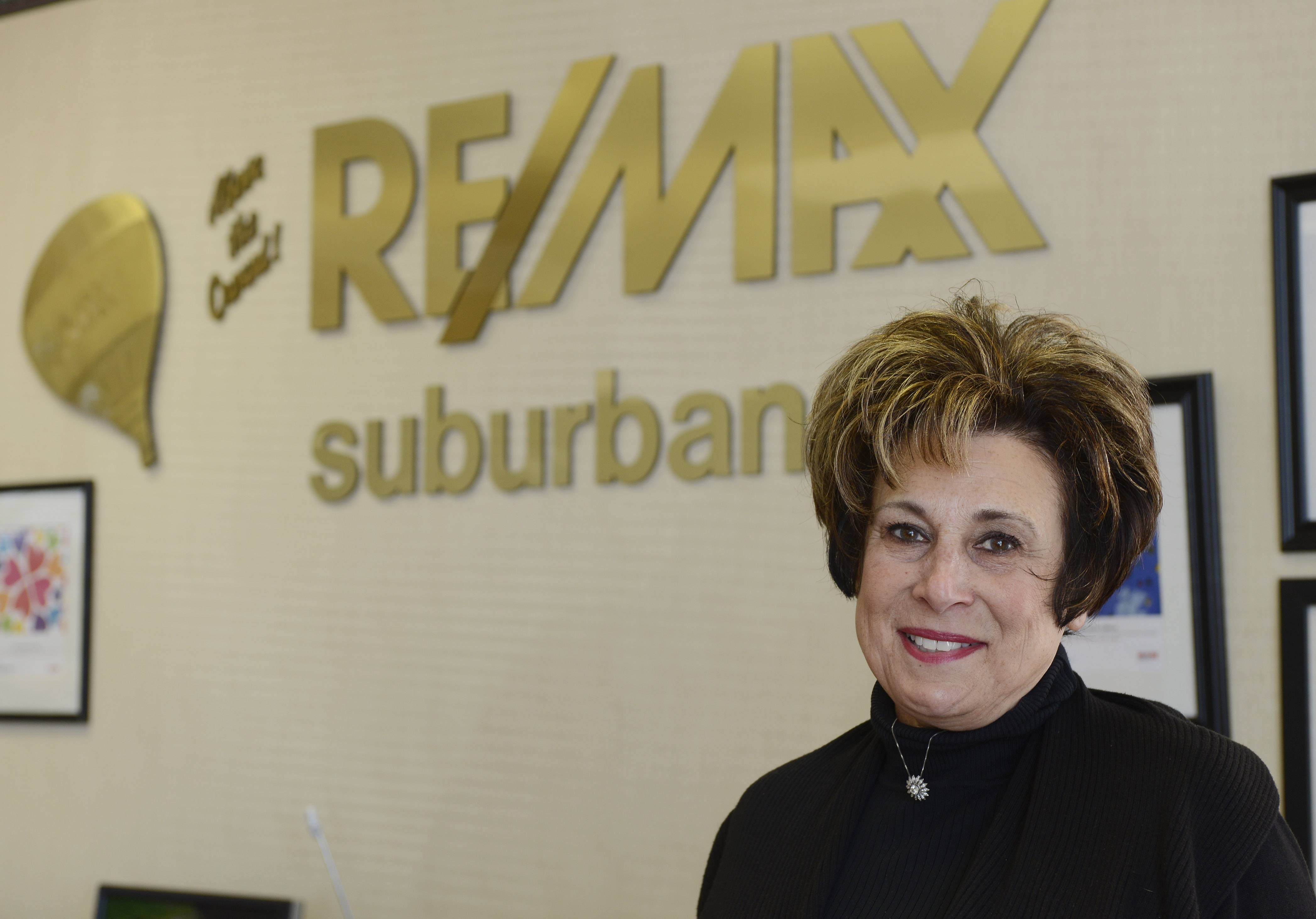 RE/MAX Suburban realtor Leslie Radzin at her Arlington Heights office.