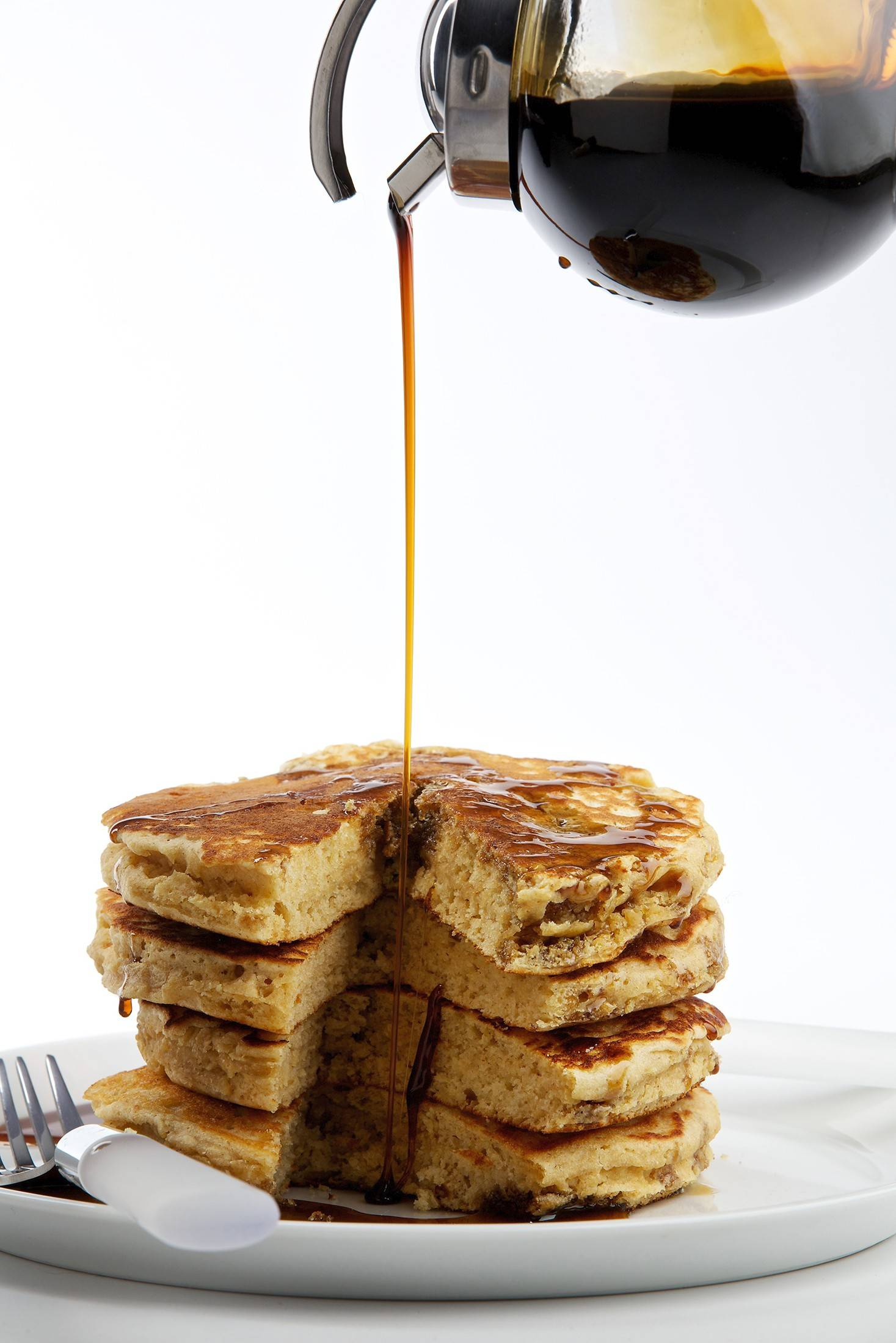 Whole wheat pastry flour proved the winner for Nevin Martell's rustic, yet fluffy Scratch Pancakes.