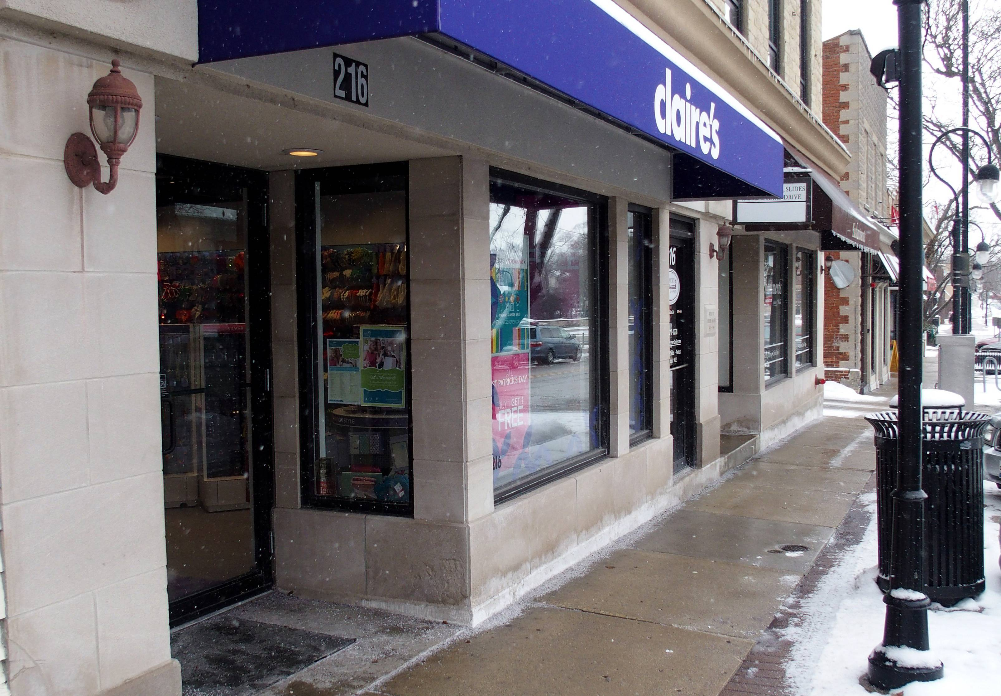 Naperville has loosened its prohibition on body piercing and tattoo businesses to allow the new Claire's shop in downtown to provide ear-piercing services as it does at its more than 3,000 other locations. The city's ordinance no longer applies to ear piercing anywhere in Naperville.