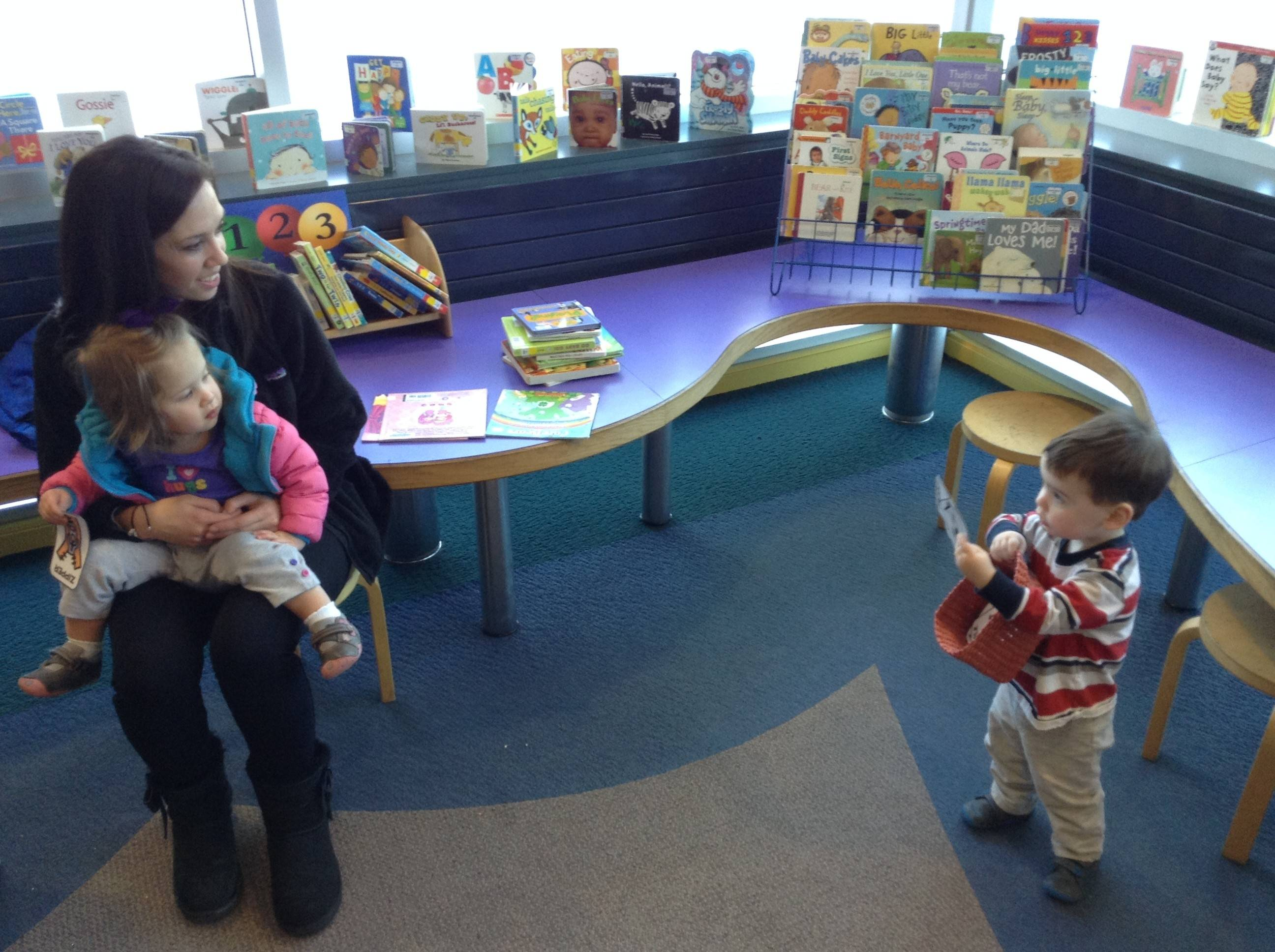 Wauconda Area Library patron Cara Silverman, with her children Mackenzie and Mason, said she is excited about proposed renovations in the children's department.