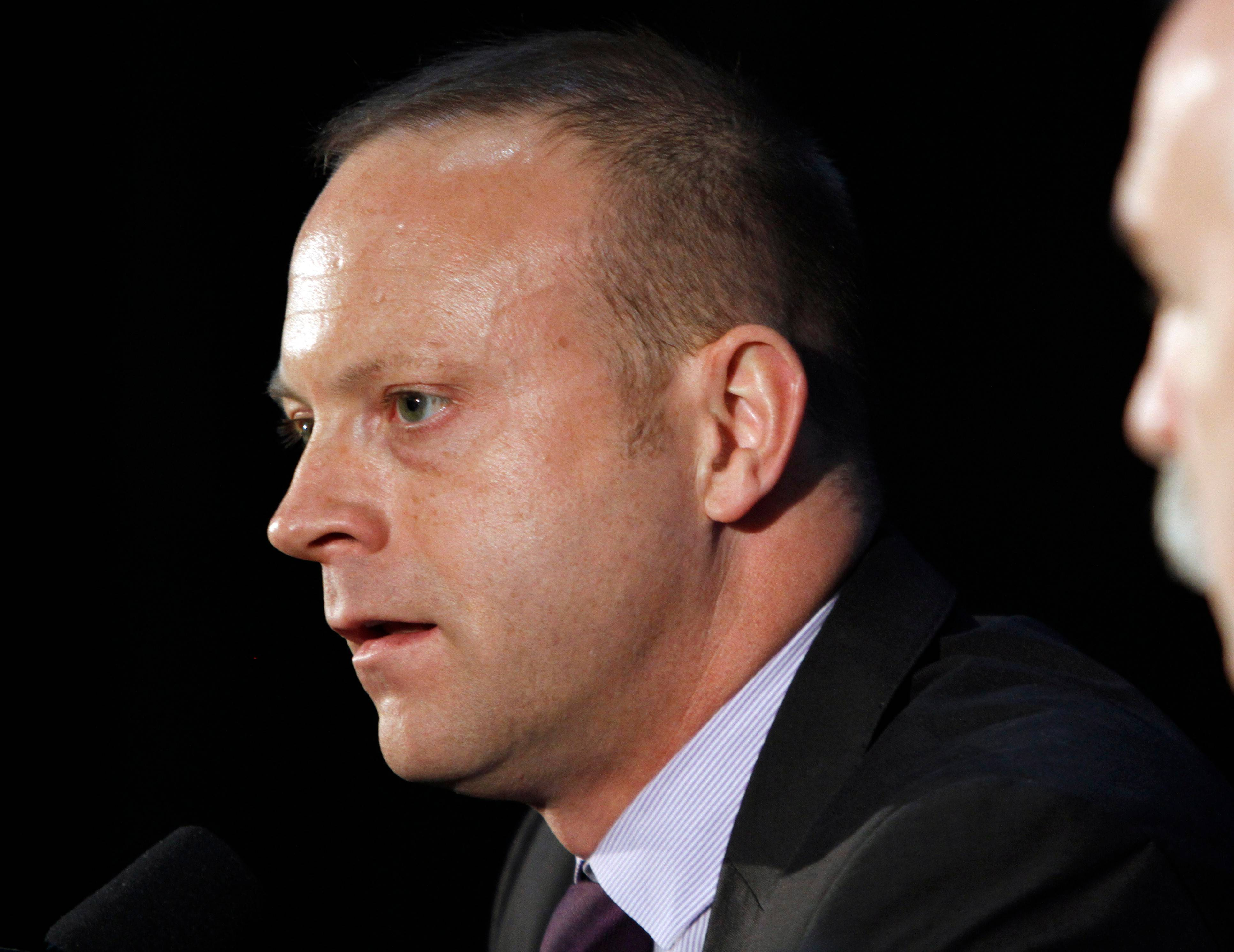 Blackhawks general manager Stan Bowman is happy with his roster as it gets ready to defend its Stanley Cup victory.