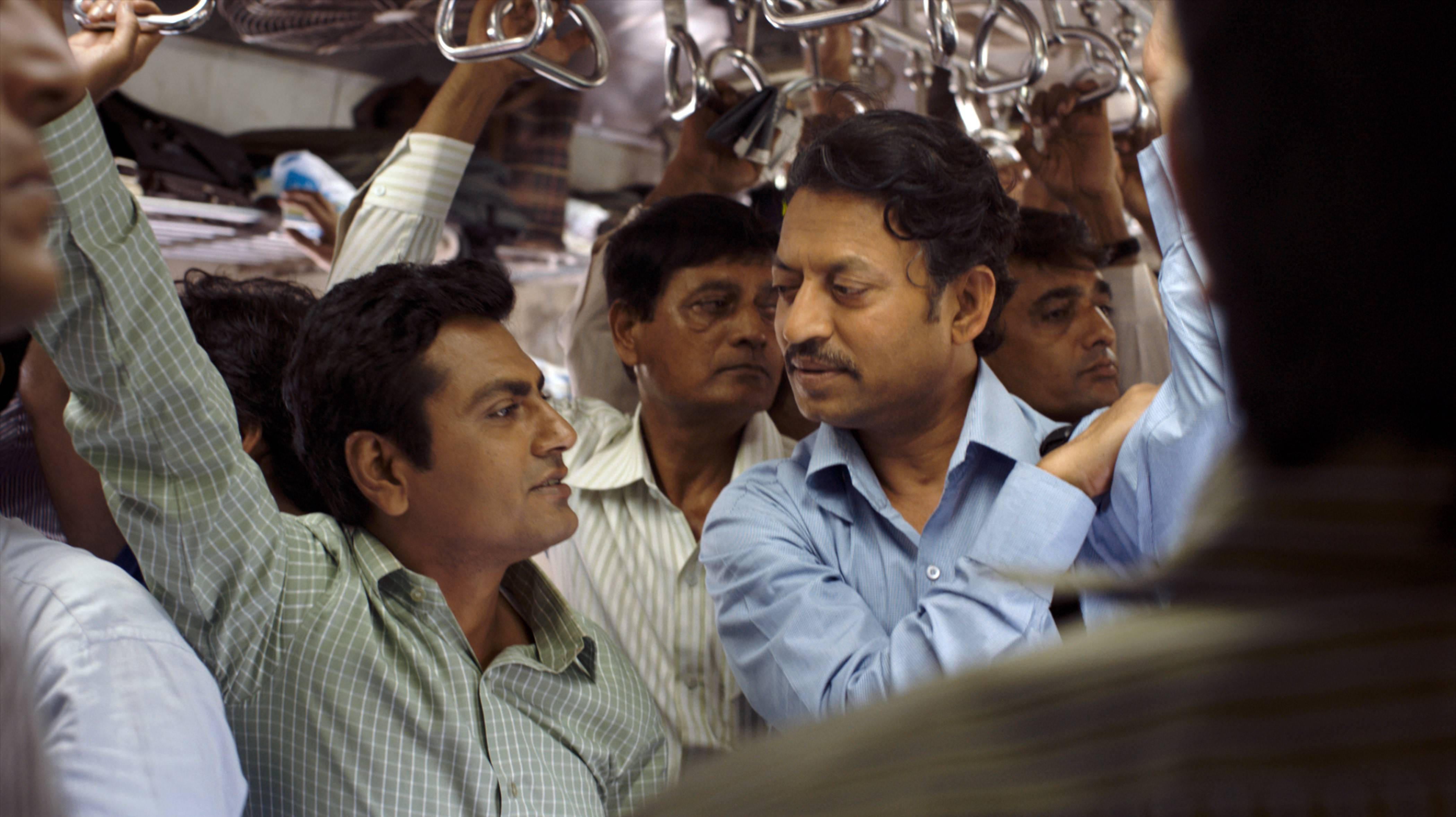 "Irrfan Khan, right, stars as a Mumbai claims adjuster in the carefully crafted romance ""The Lunchbox."""
