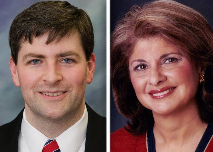Peter Breen, left, and Sandra Pihos, right, are candidates in the race for 48th state House District in the March 18 GOP primary.
