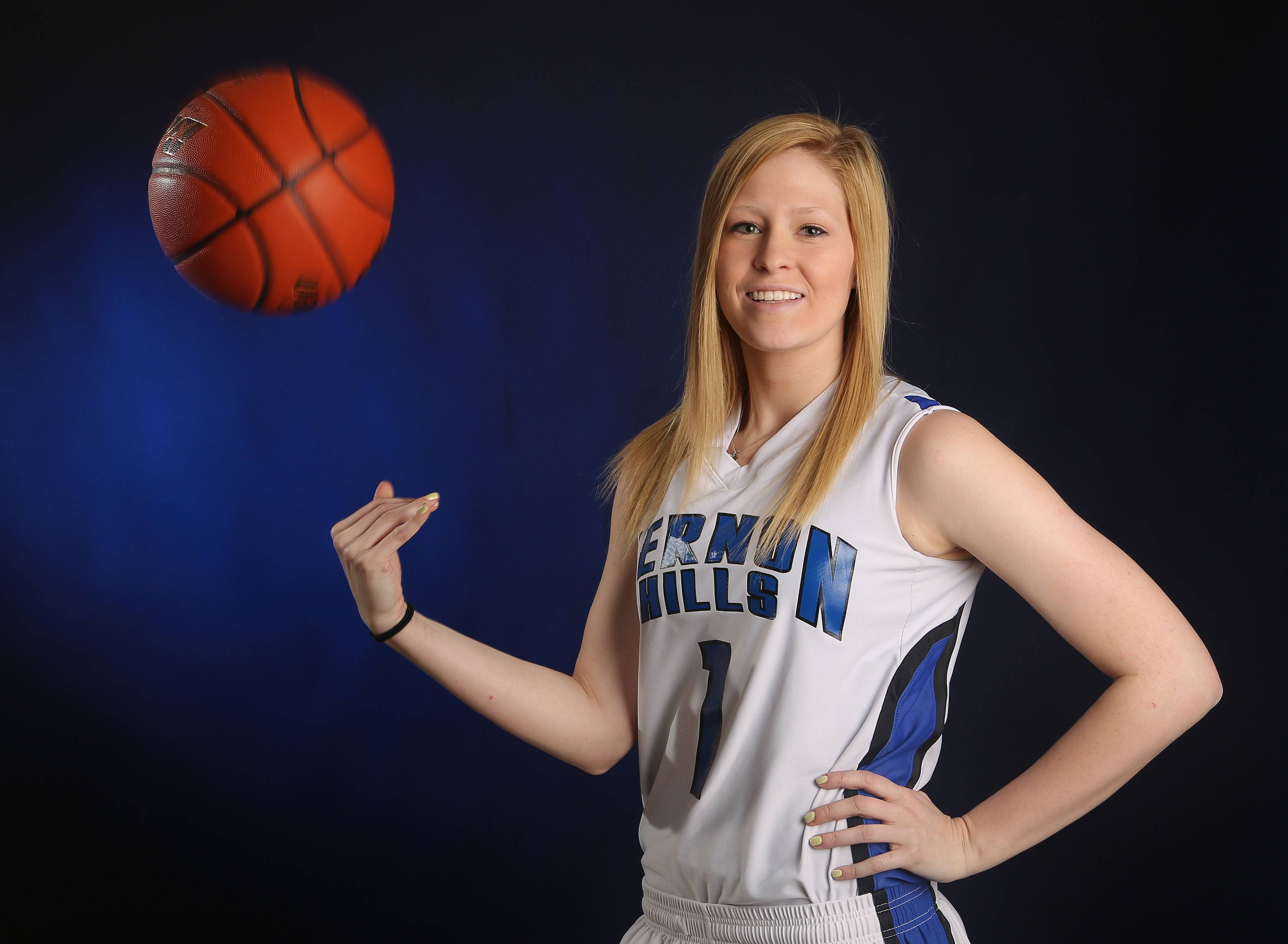 Vernon Hills' Sydney Smith captains the Daily Herald's all-area girls basketball team for Lake County.