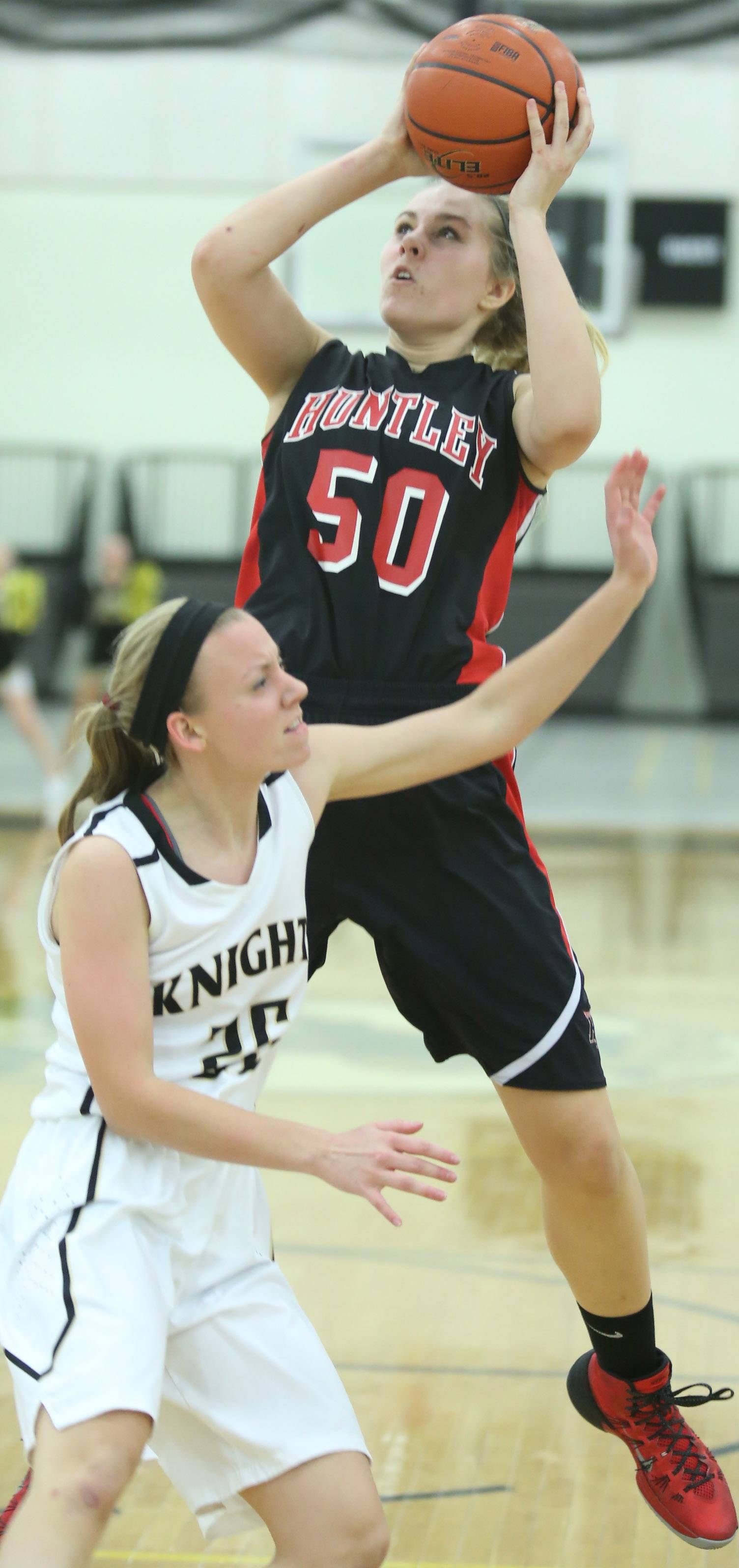 Huntley sophomore Ali Andrews (50) co-captains the Daily Herald's Fox Valley all-area girls basketball team.