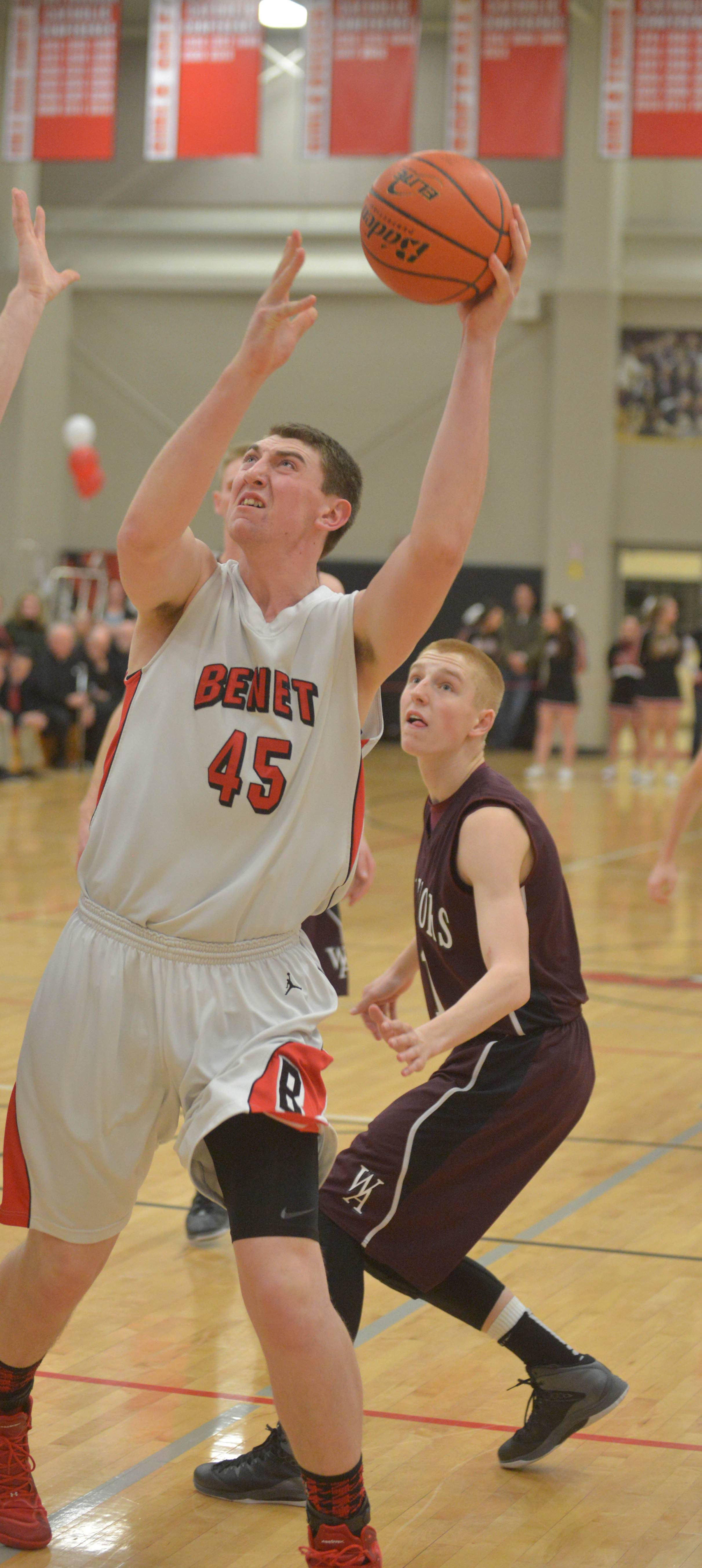 Benet's Sean O'Mara captains the Daily Herald's boys basketball all-area team in DuPage County.