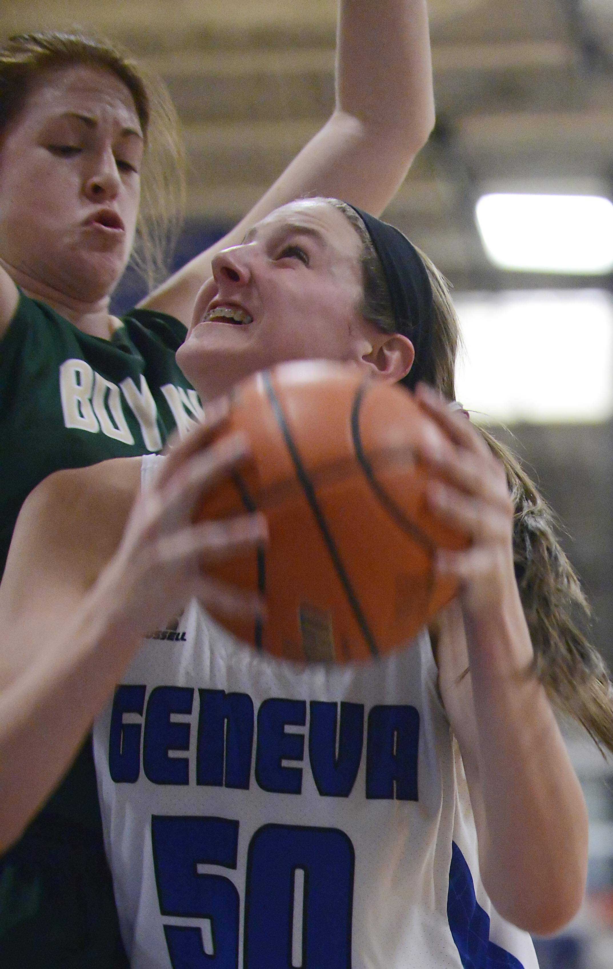Geneva's Grace Loberg, left, and Janie McCloughan are the top two scorers on the Vikings this year as they head to the Class 4A state tournament Friday night in Normal.