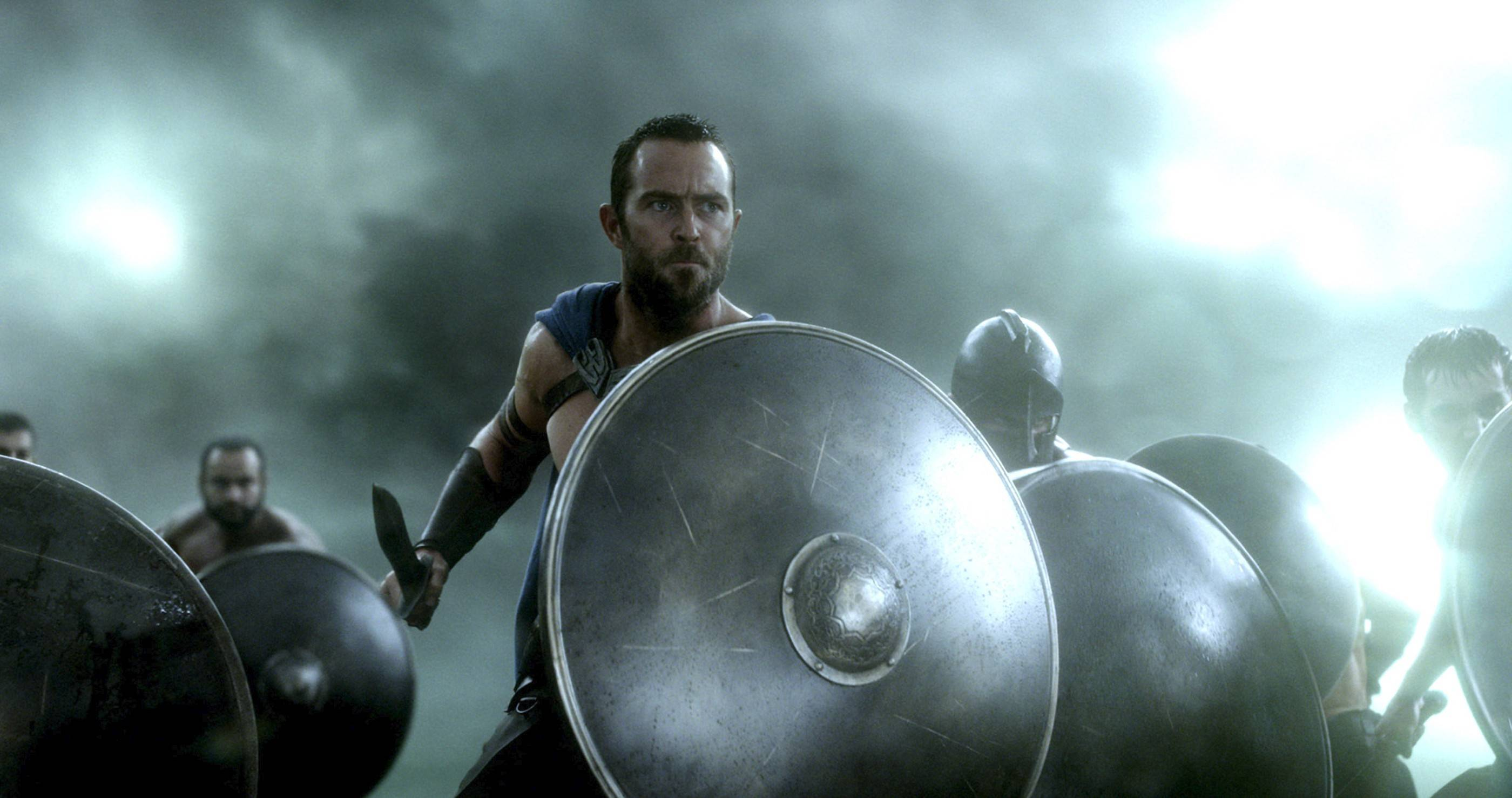 "Australian actor Sullivan Stapleton plays the leader of the Greek forces in ""300: Rise of an Empire,"" a busy, visually tedious and overblown sequel."