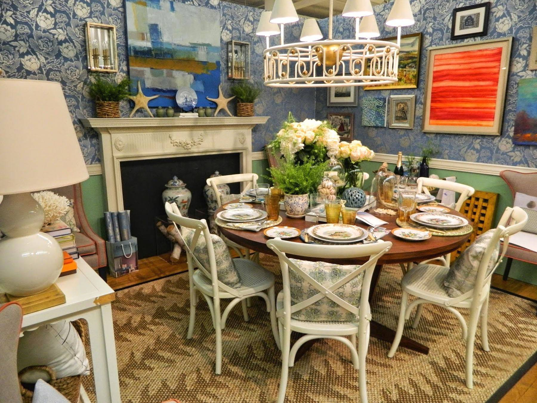 Predictable? Maybe, but blue and white is always right for celebrating a room down by the seashore.