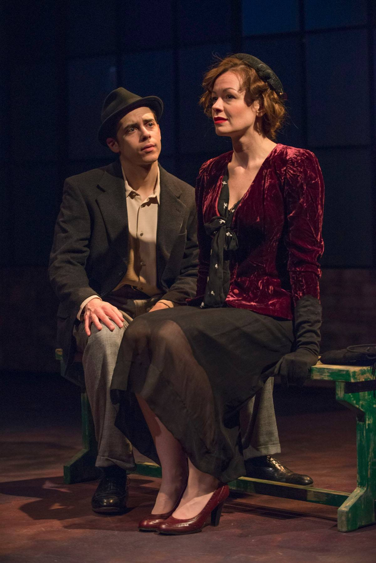"Violinist turned prizefighter Joe Bonaparte (Nate Santana) falls for tough cookie Lorna (Nina O'Keefe) in Griffin Theatre's revival of ""Golden Boy,"" Clifford Odets' 1937 drama about a man torn by his desire for acclaim and security and his love of music."