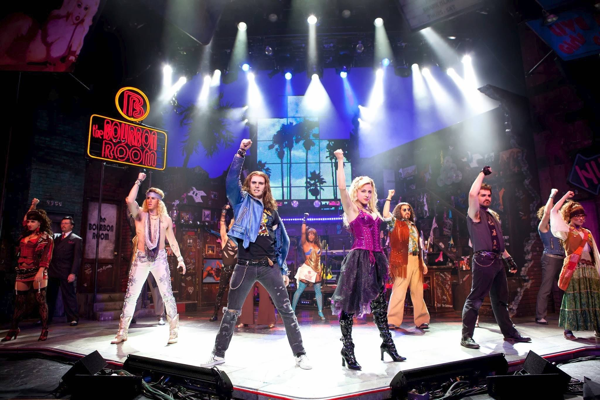 "The 1980s-inspired musical ""Rock of Ages"" returns to Chicago at the Bank of America Theatre."