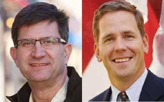 U.S. Rep. Brad Schneider, left, continues to lead Republican rival Robert Dold in fundraising ahead of their November rematch.