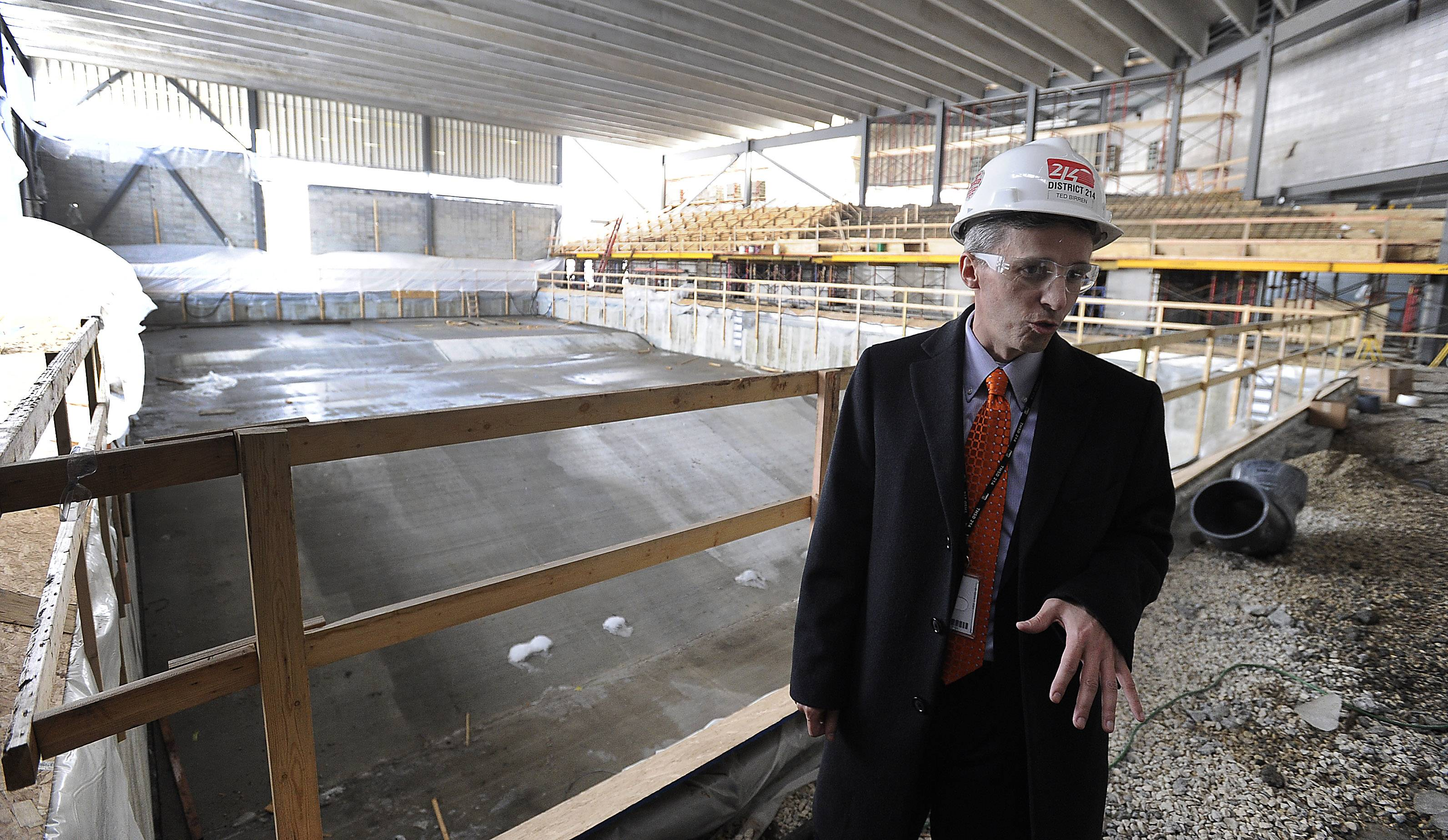 Ted Birren, District 214 director of operations, talks about the new $11 million pool at Buffalo Grove High School.