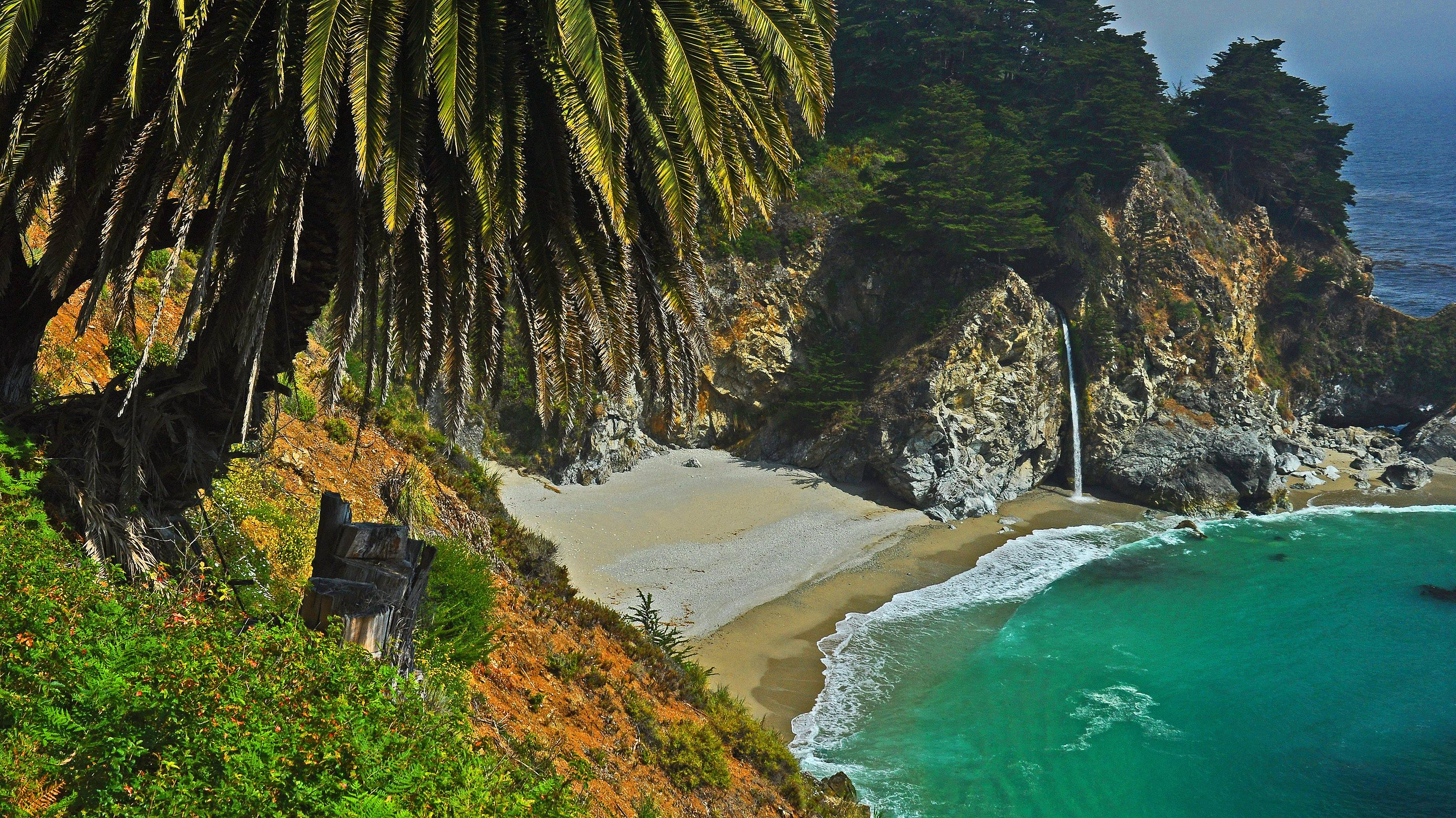 As we continue to endure this harsh midwest winter, my mind wanders back to our summer California trip to the Big Sur coast. Pictured here is McWay Falls in Julia Pfeiffer Burns State Park as it plunges into the Pacific Ocean.