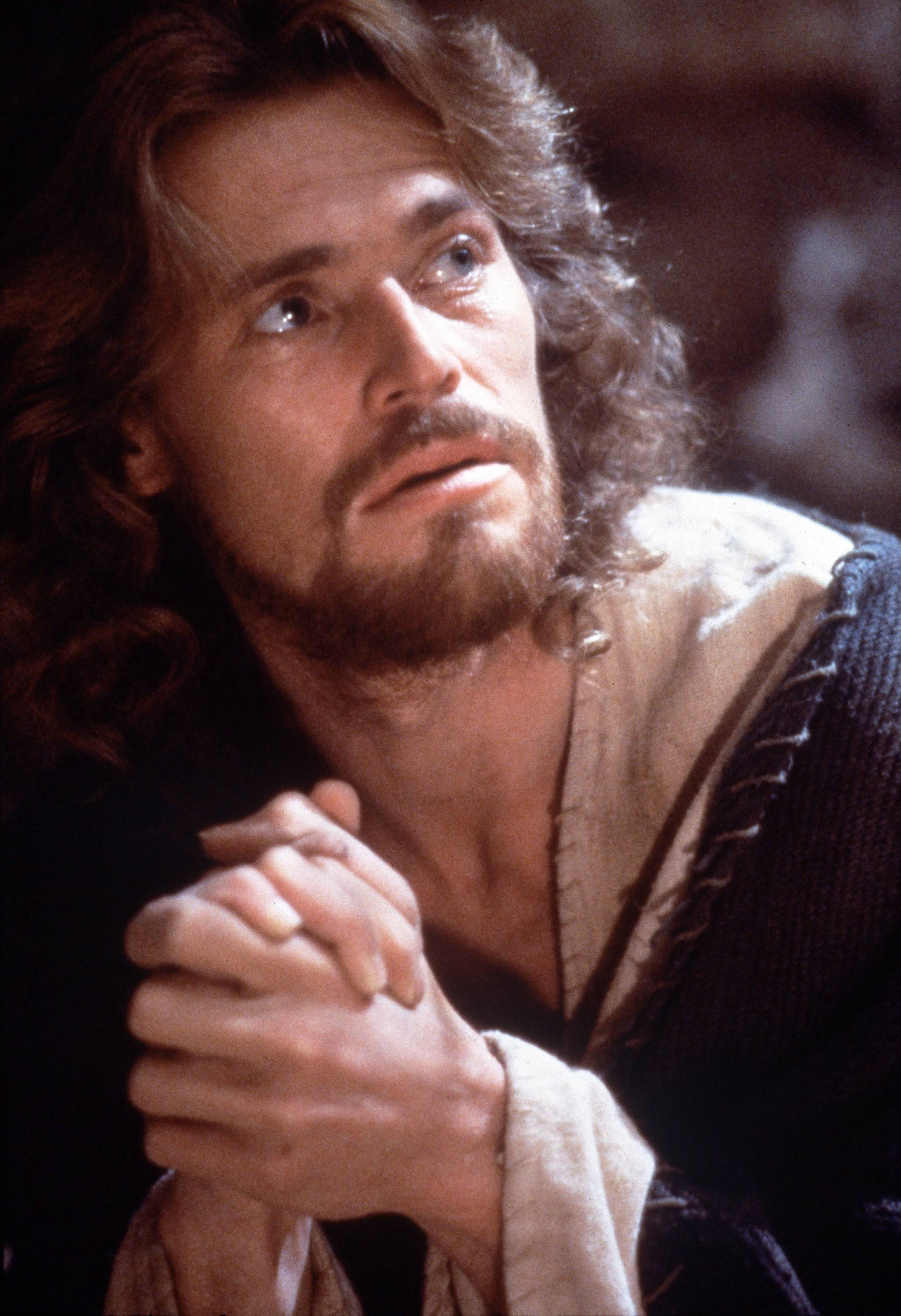 "Willem Dafoe portrays Jesus Christ in Martin Scorsese's 1988 film, ""The Last Temptation of Christ."""