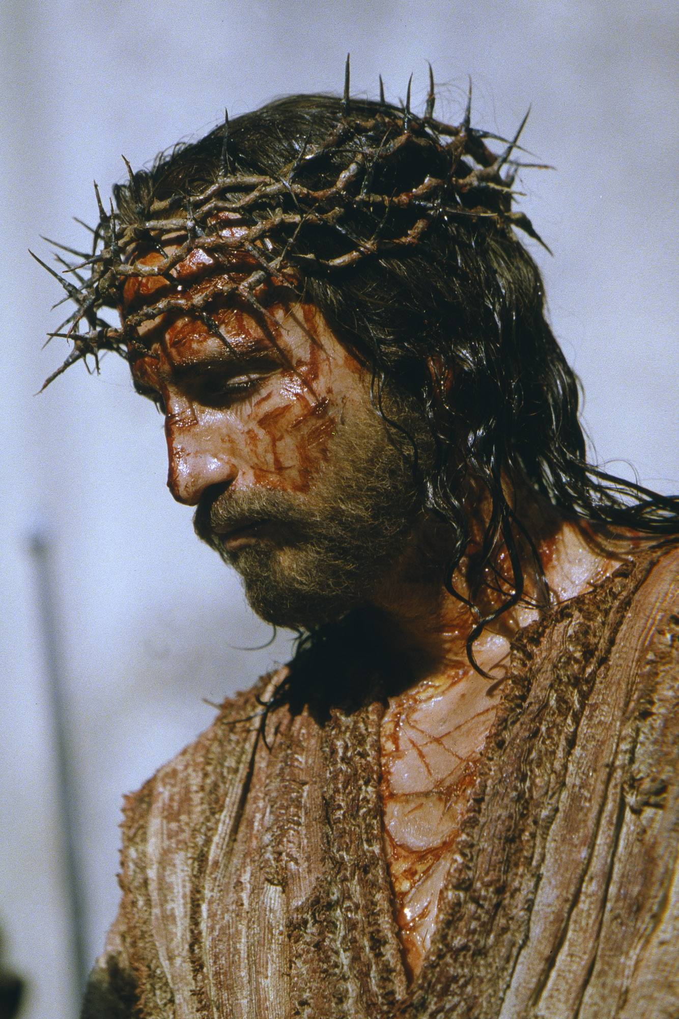 "Jim Caviezel plays Jesus Christ in ""The Passion of the Christ."""