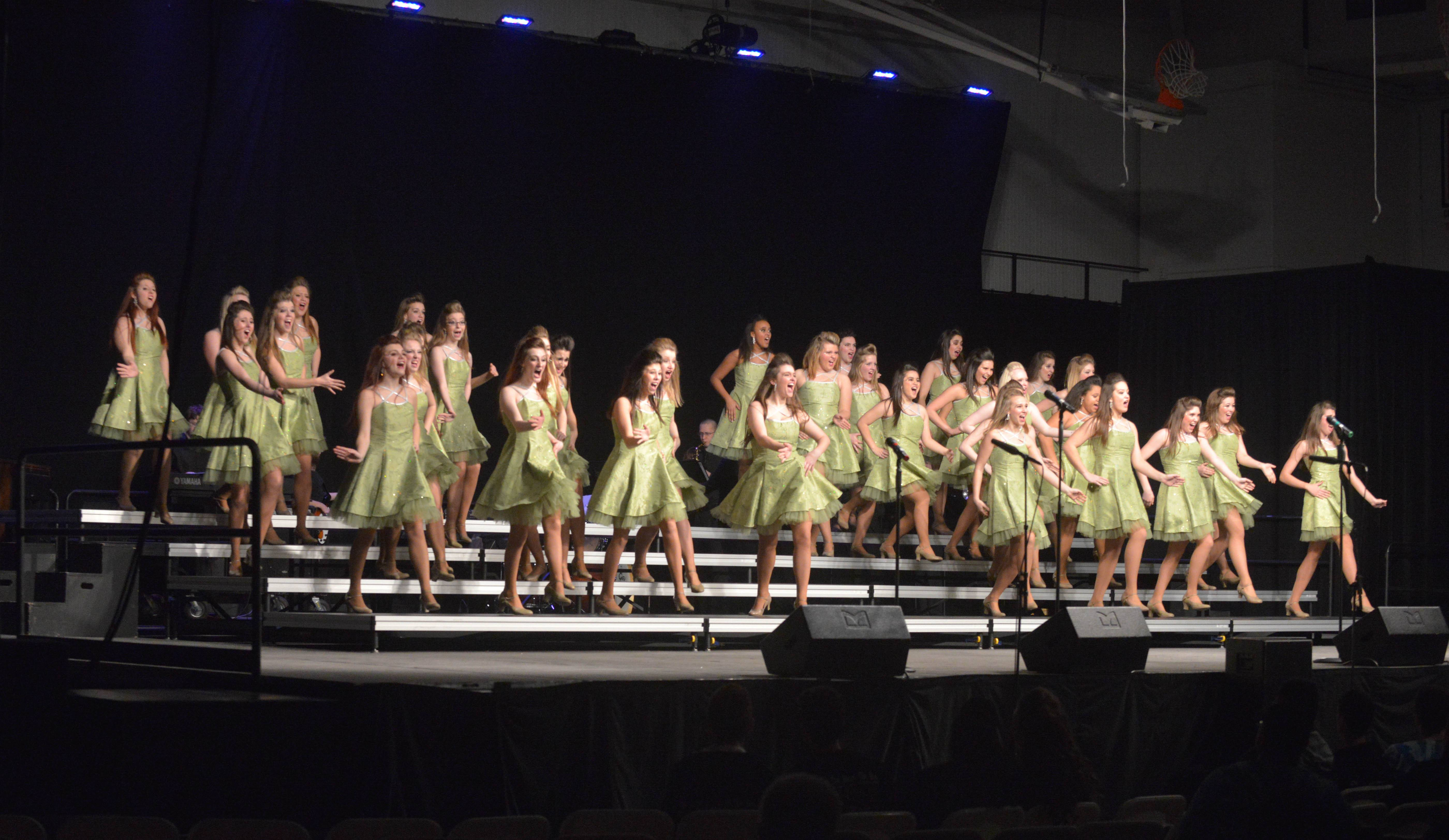 Indiana's New Prairie High School took part in the annual Choral Classic Invitational Saturday in Wheaton. Thirty middle schools and high schools from 11 states participated in the two-day show choir and vocal performance competition.