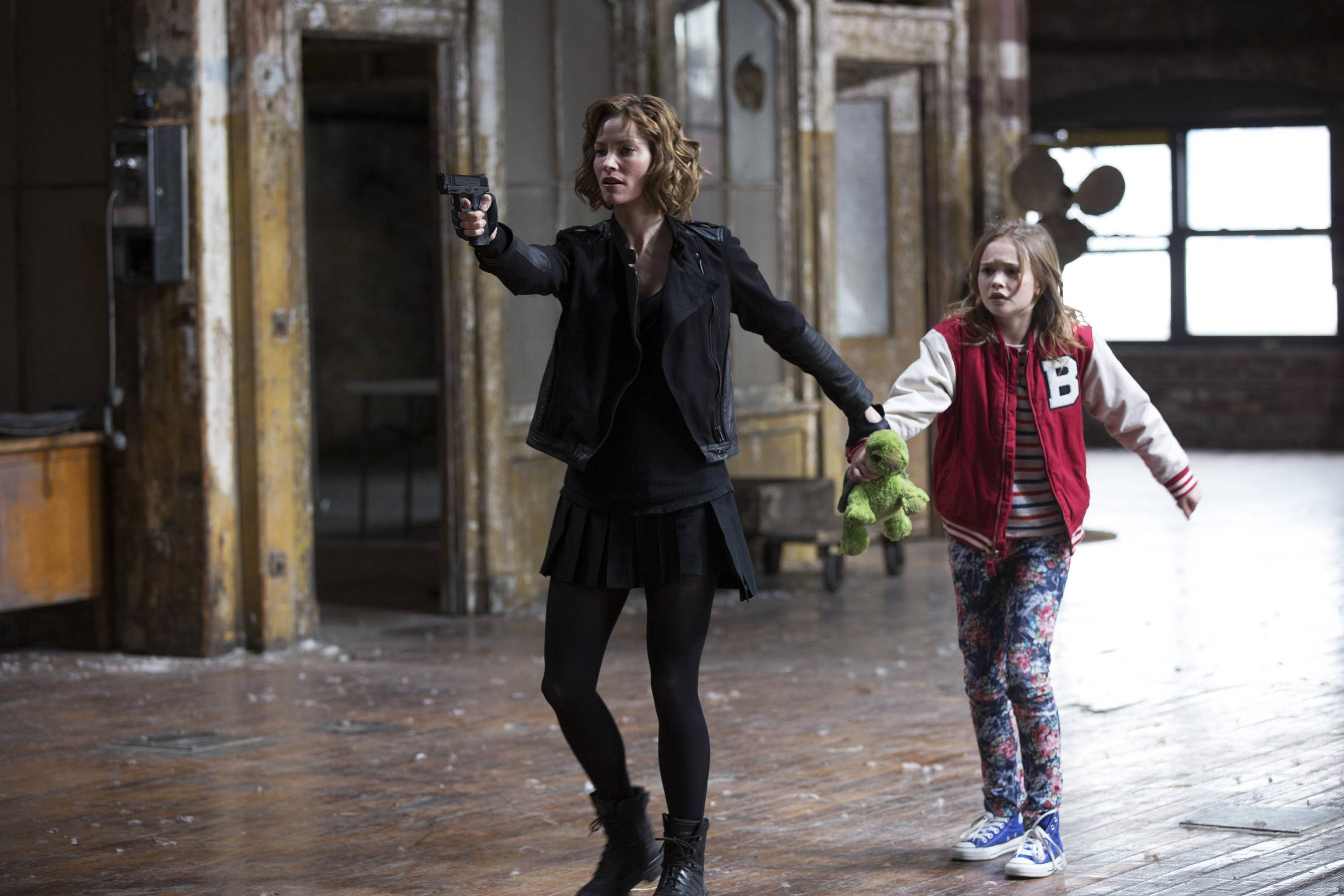 "Sienna Guillory, left, as Moore, and Johnny Sequoyah as Bo, in the pilot of the new NBC television series, ""Believe."" Alfonso Cuaron and J.J. Abrams (""Lost,"" the ""Star Trek"" movies) are executive producers of ""Believe,"" a drama about a child whose supernatural powers put her and the world at risk."