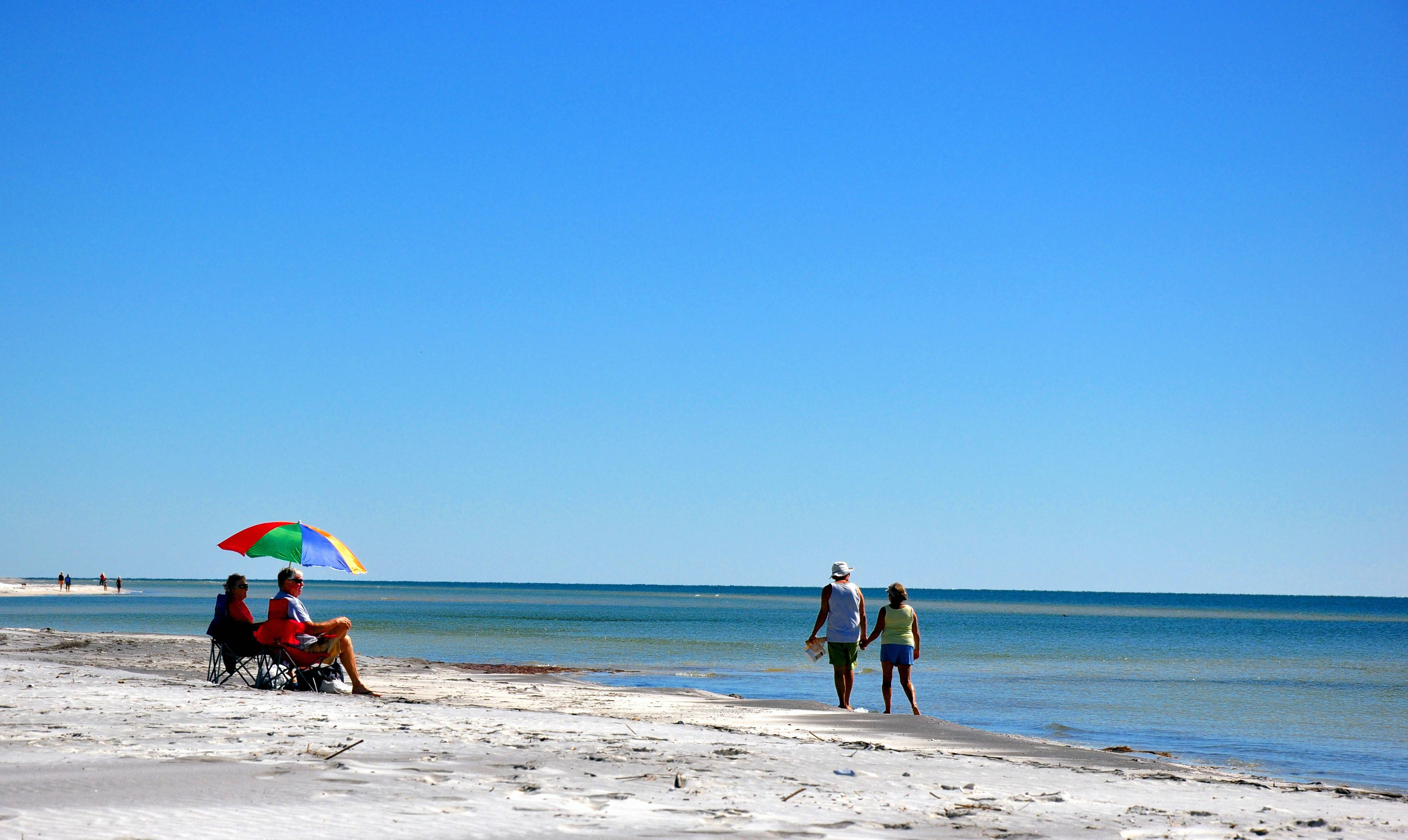 The beach on Ship Island, one of the barrier islands of the Gulf Islands National Seashore, is the finest in Mississippi.