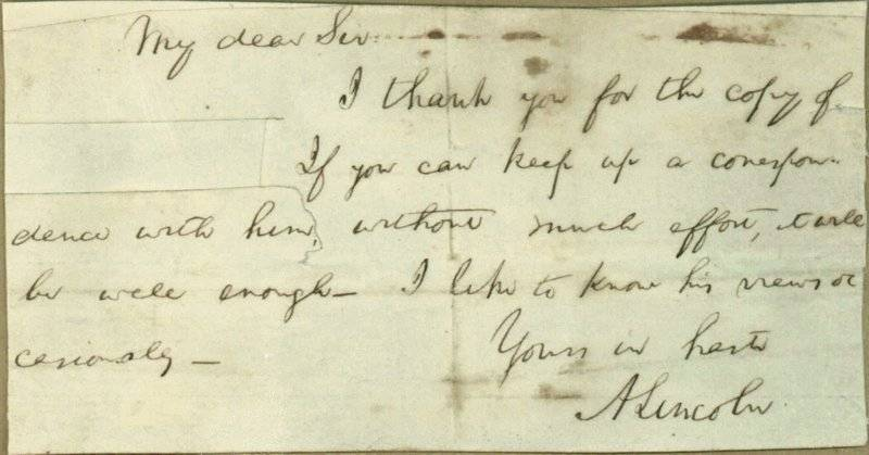 Historians believe they've unraveled the mystery of a cryptic note Lincoln penned that doesn't identify the recipient by name and has a section clipped out.