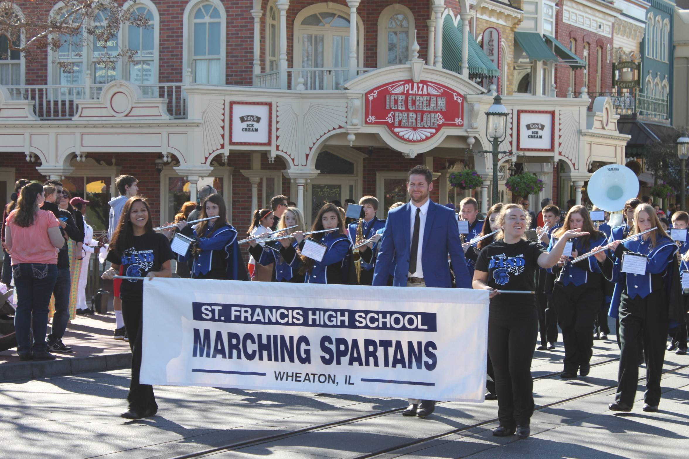 The St. Francis High School Marching Band marched down Main Street U.S.A. in the Magic Kingdom.