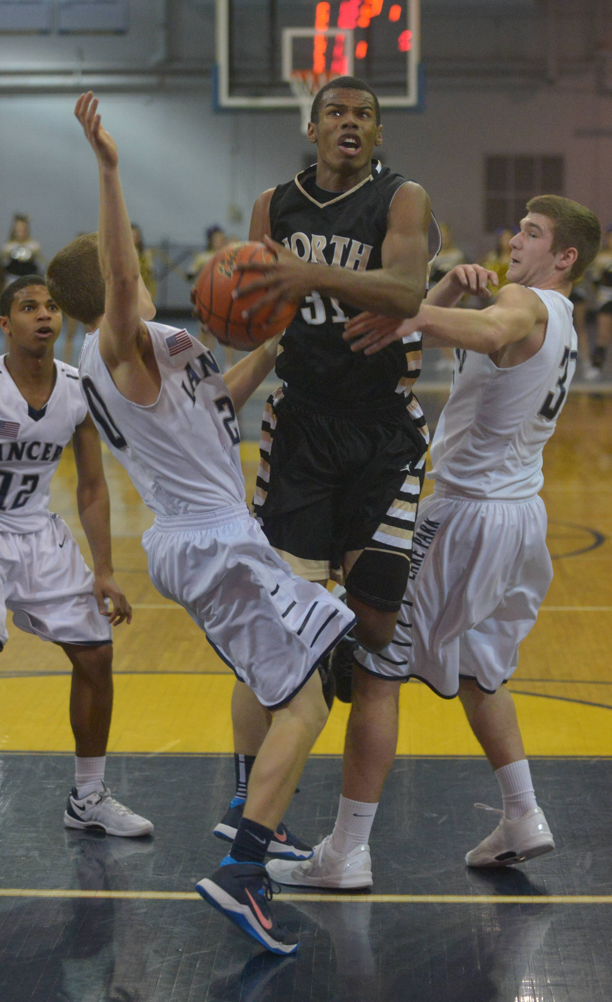 Lake Park vs. Glenbard North last Friday in Class 4A regional final action at Leyden.