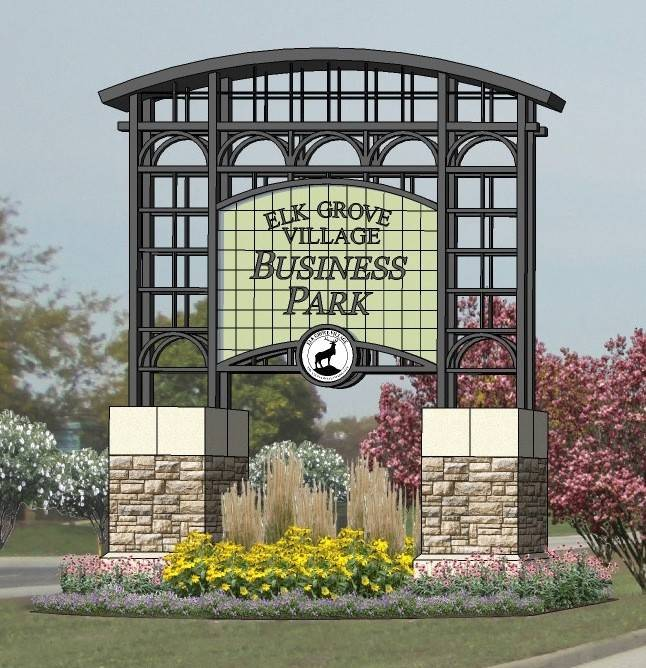 Elk Grove Village officials say aesthetic improvements like this are among the projects that could be funded with implementation of a Tax Increment Financing district in the business park.