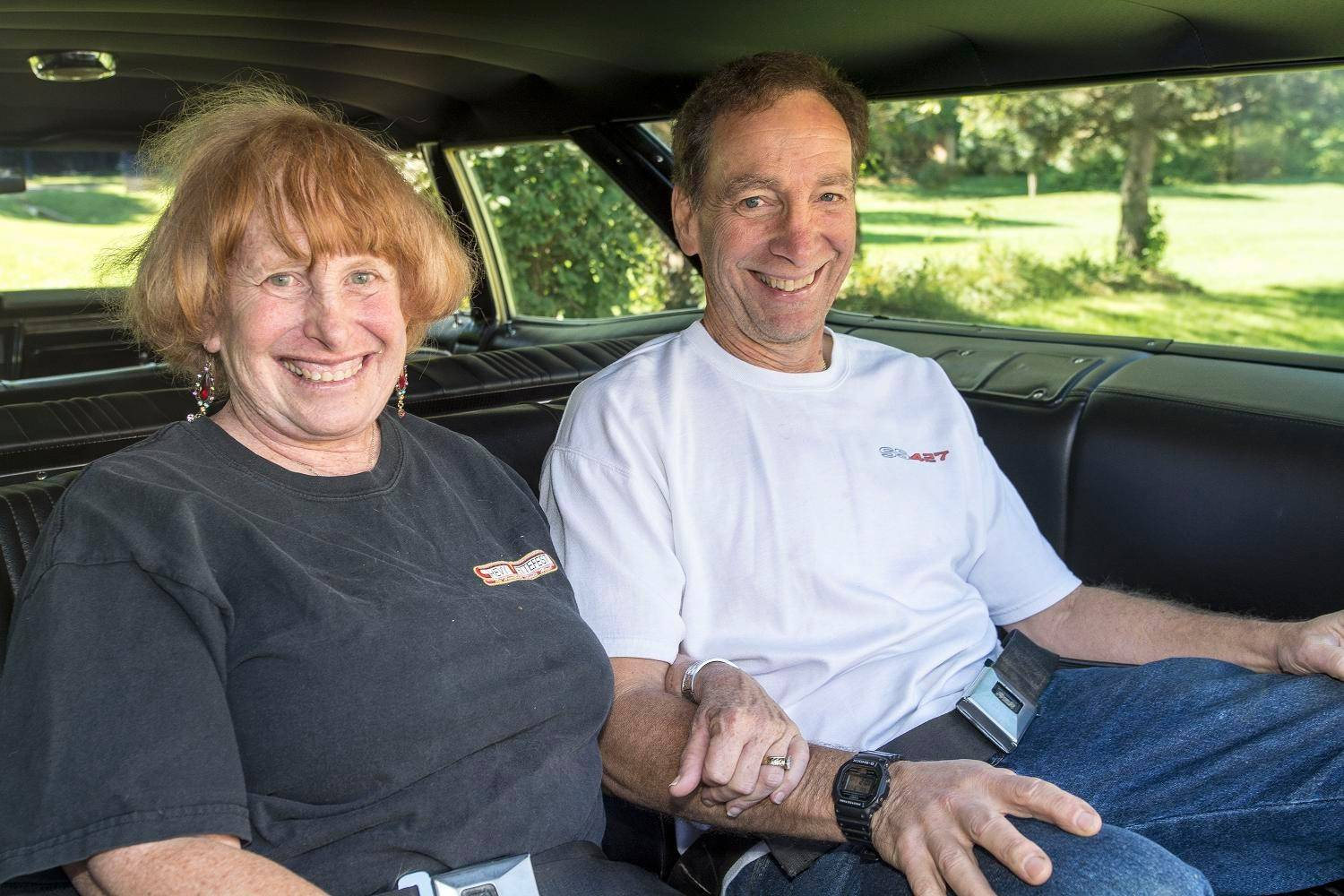 Arnold and Barb Boris of Kildeer enjoy cruising in their vintage family wagon.