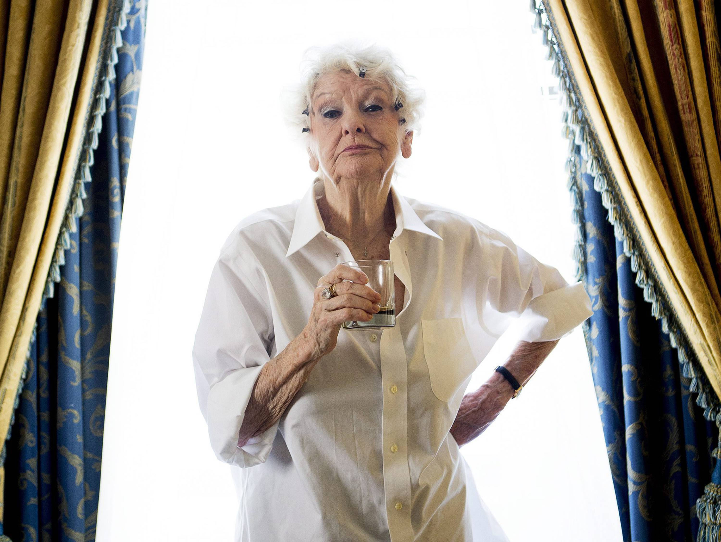 "At 89, Elaine Stritch, as funny and irascible as ever, returned to New York to celebrate the opening of ""Elaine Stritch: Shoot Me,"" delighting Broadway fans who have missed her. The film premiered in New York City theaters Friday and nationwide soon after."