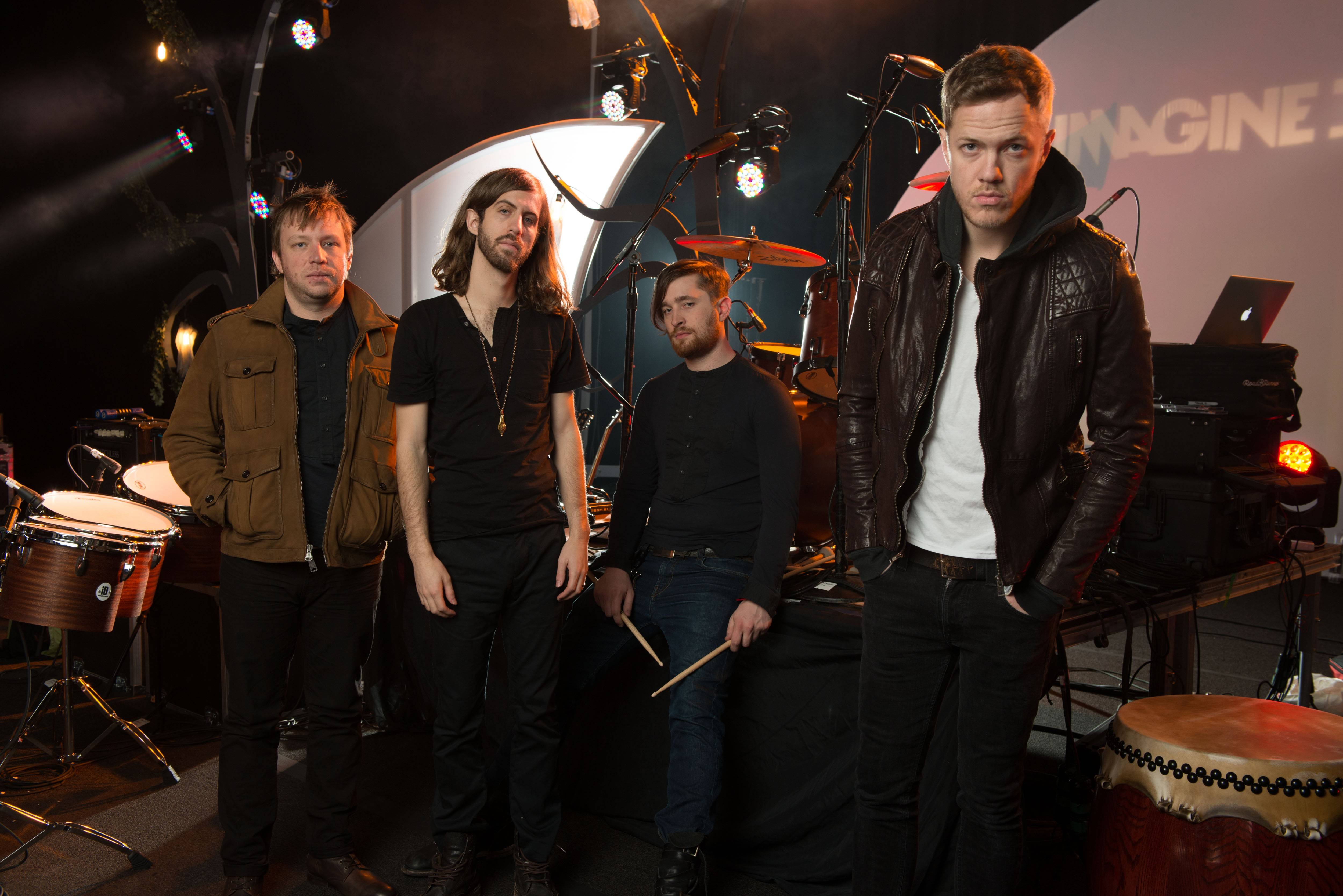 Imagine Dragons -- Ben McKee, left, Wayne Sermon, Dan Platzman and Dan Reynolds -- play the Allstate Arena in Rosemont on Thursday, March 13.