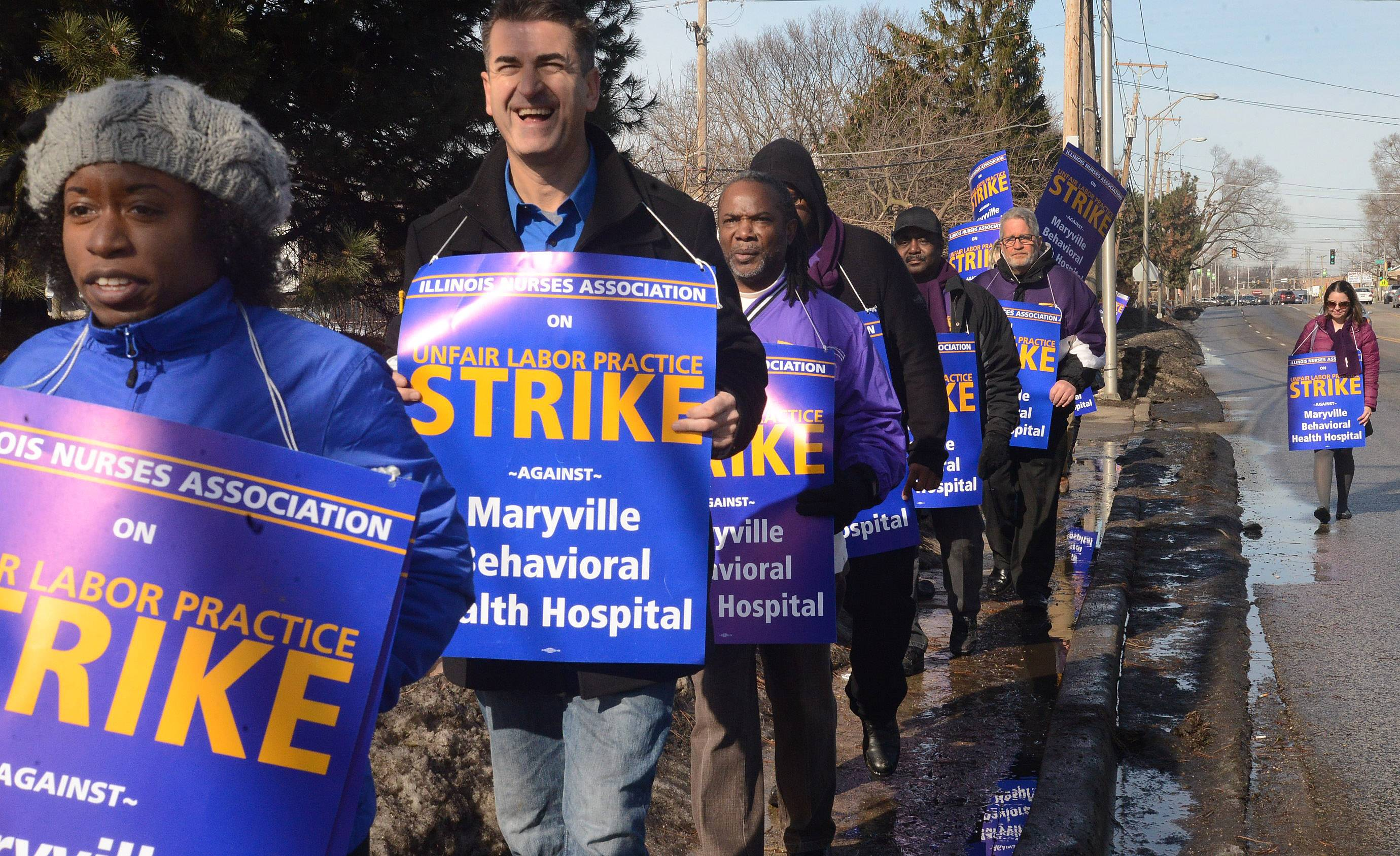 More than 20 nurses began a five-day strike Monday against Maryville Behavioral Health Hospital in Des Plaines, saying conditions and staffing levels at the facility make working there unsafe.