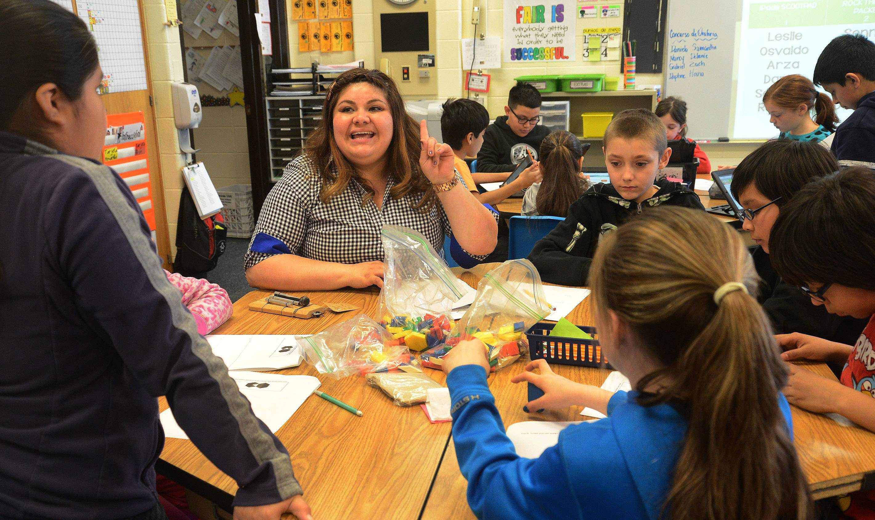 Her colleagues praise dual-language teacher Sonia Esquivel for the enthusiasm she brings, and her ability to get young students interested in science and math.