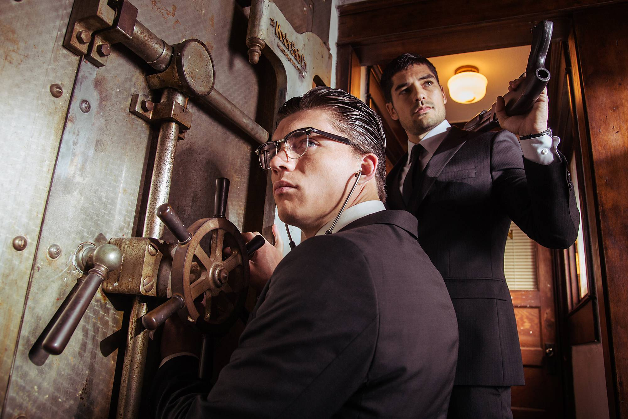 "Zane Holtz, left, is Richie Gecko and D.J. Cotrona as Seth Gecko star as bank robbers in ""From Dusk Till Dawn: The Series,"" premiering at 8 p.m. Tuesday, March 11, on El Rey."