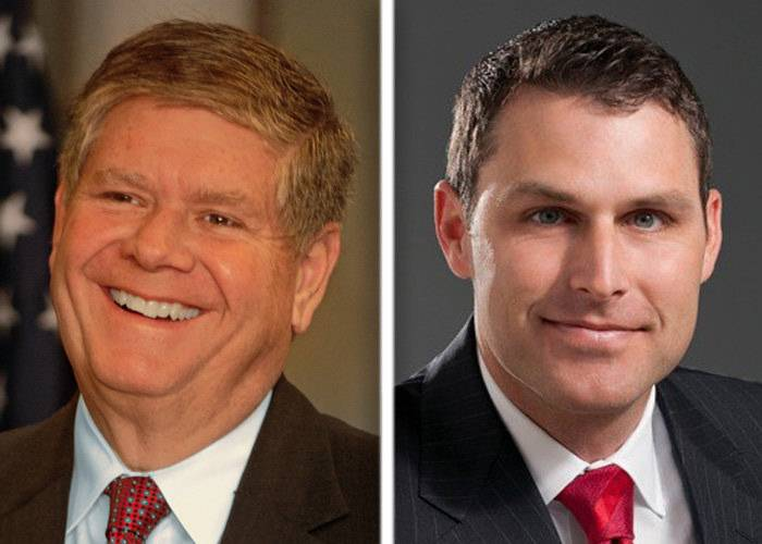 Jim Oberweis, left, and Doug Truax, right, are candidates in the race for U.S. Senate.