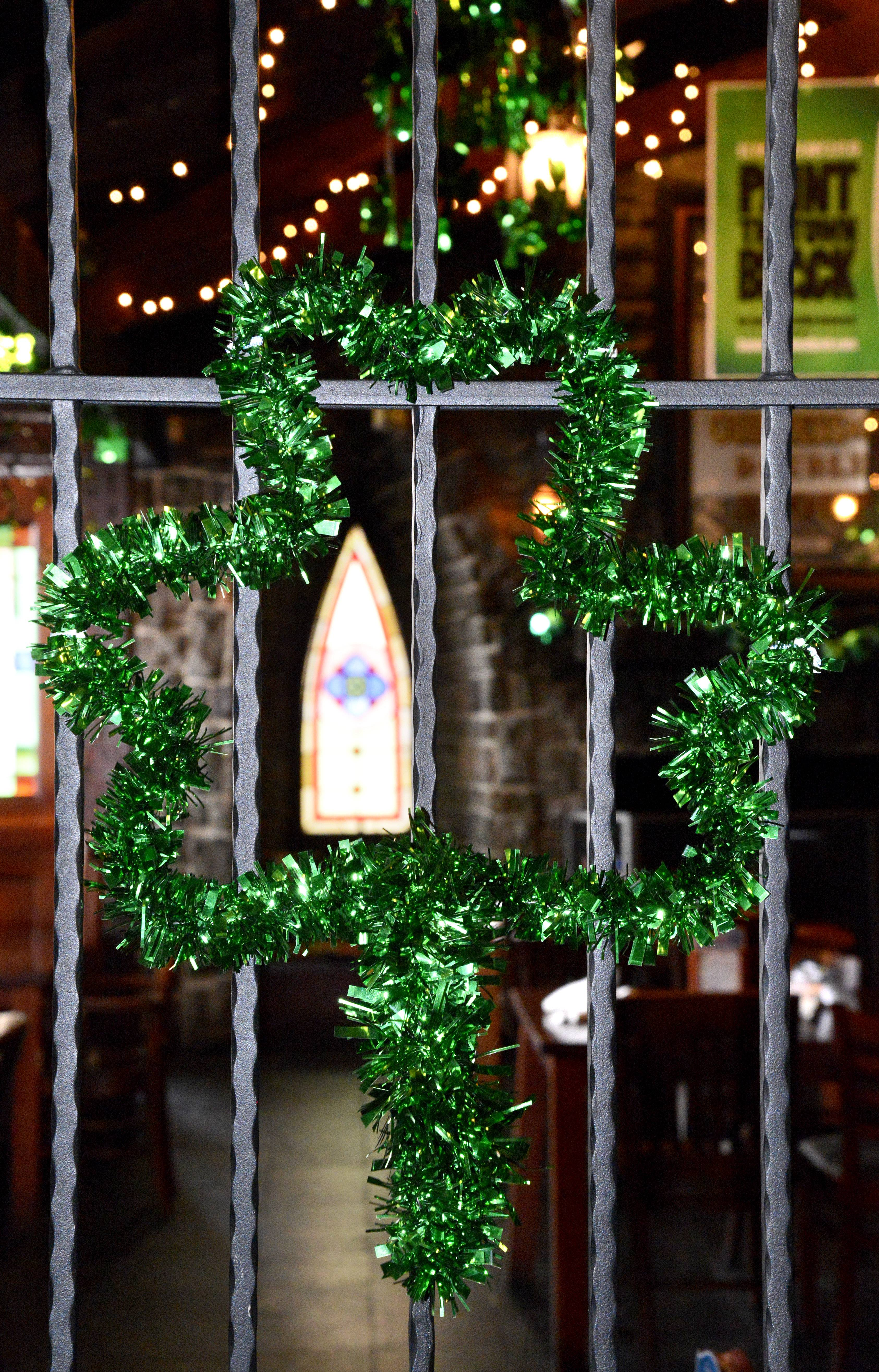 Decorations for St. Patrick's Day are all over at Claddagh Irish Pub at 1702 Commons Drive in Geneva.