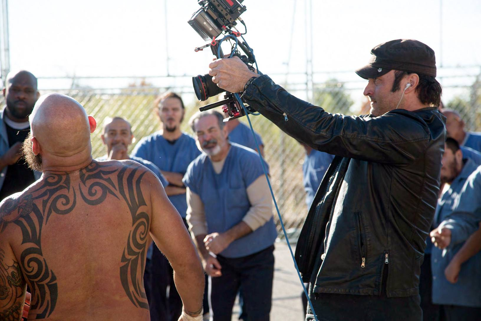 "Director Robert Rodriguez works on the set of ""From Dusk Till Dawn: The Series,"" which premieres Tuesday, March 11."