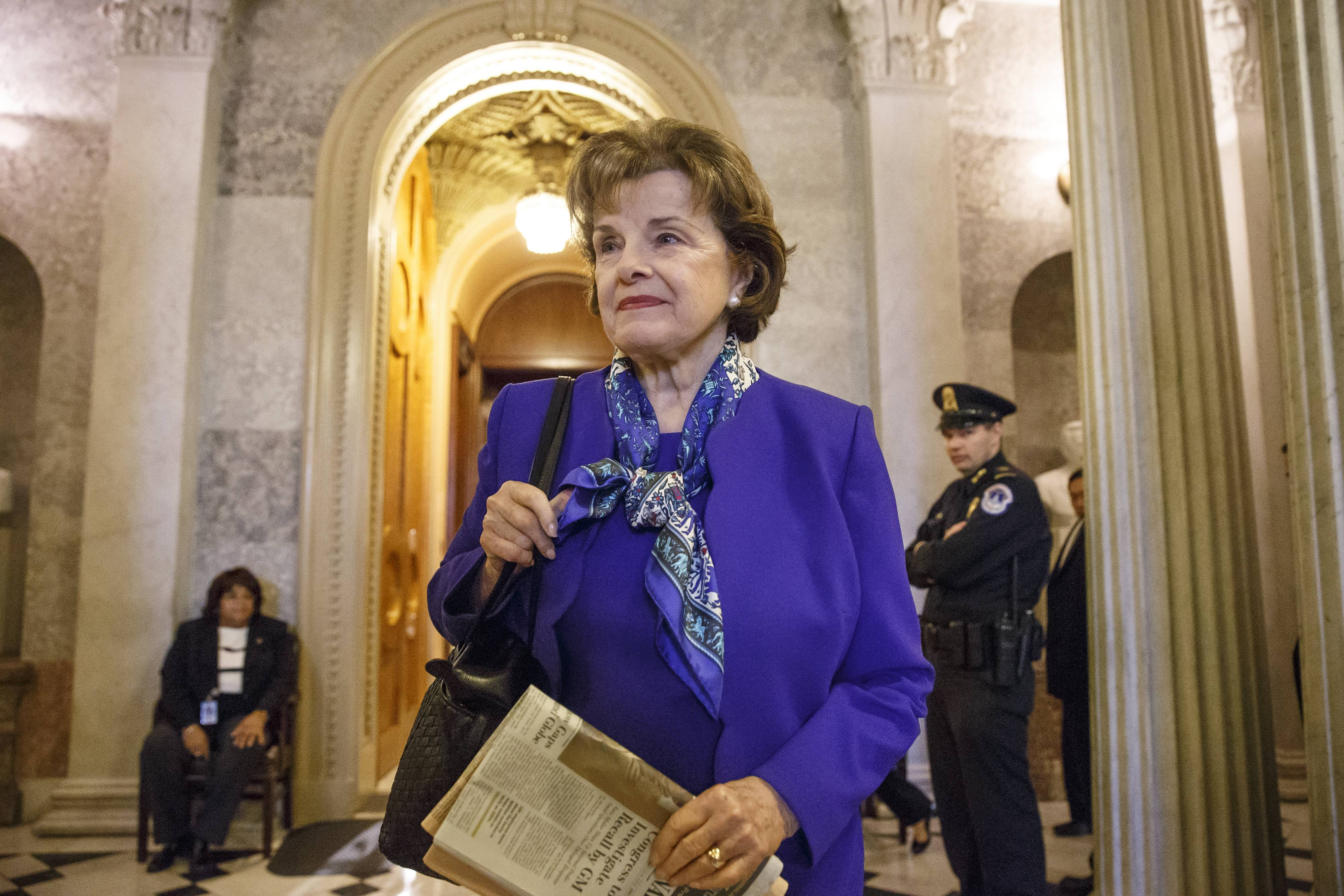 Senate Intelligence Committee Chair Sen. Dianne Feinstein, a California Democrat, accused the CIA Tuesday of criminal activity in improperly searching a computer network set up for lawmakers investigating allegations that the agency used torture in terror investigations during the Bush administration.