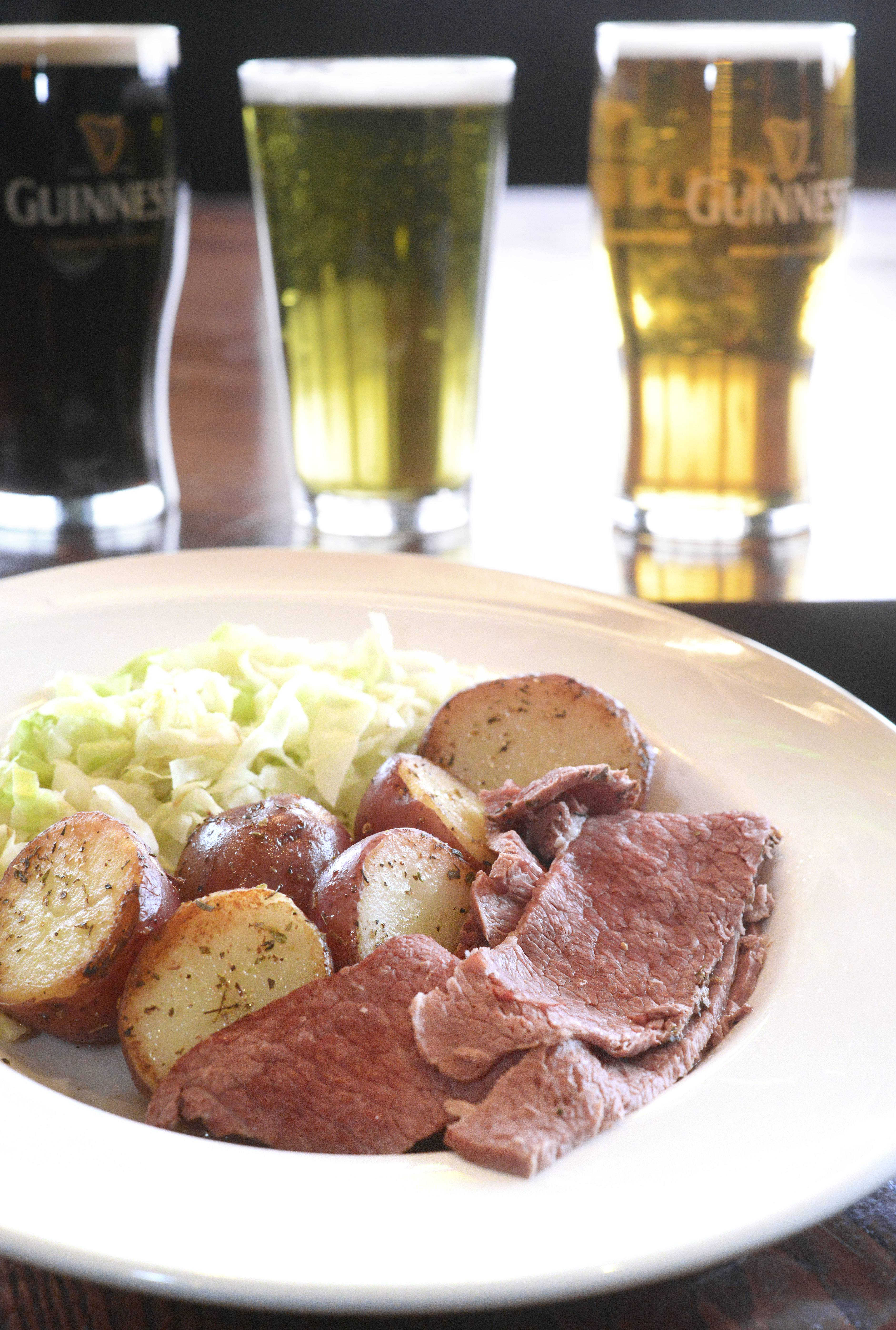 Corned beef and cabbage will be front and center Friday through Monday at Claddagh Irish Pub in Geneva.