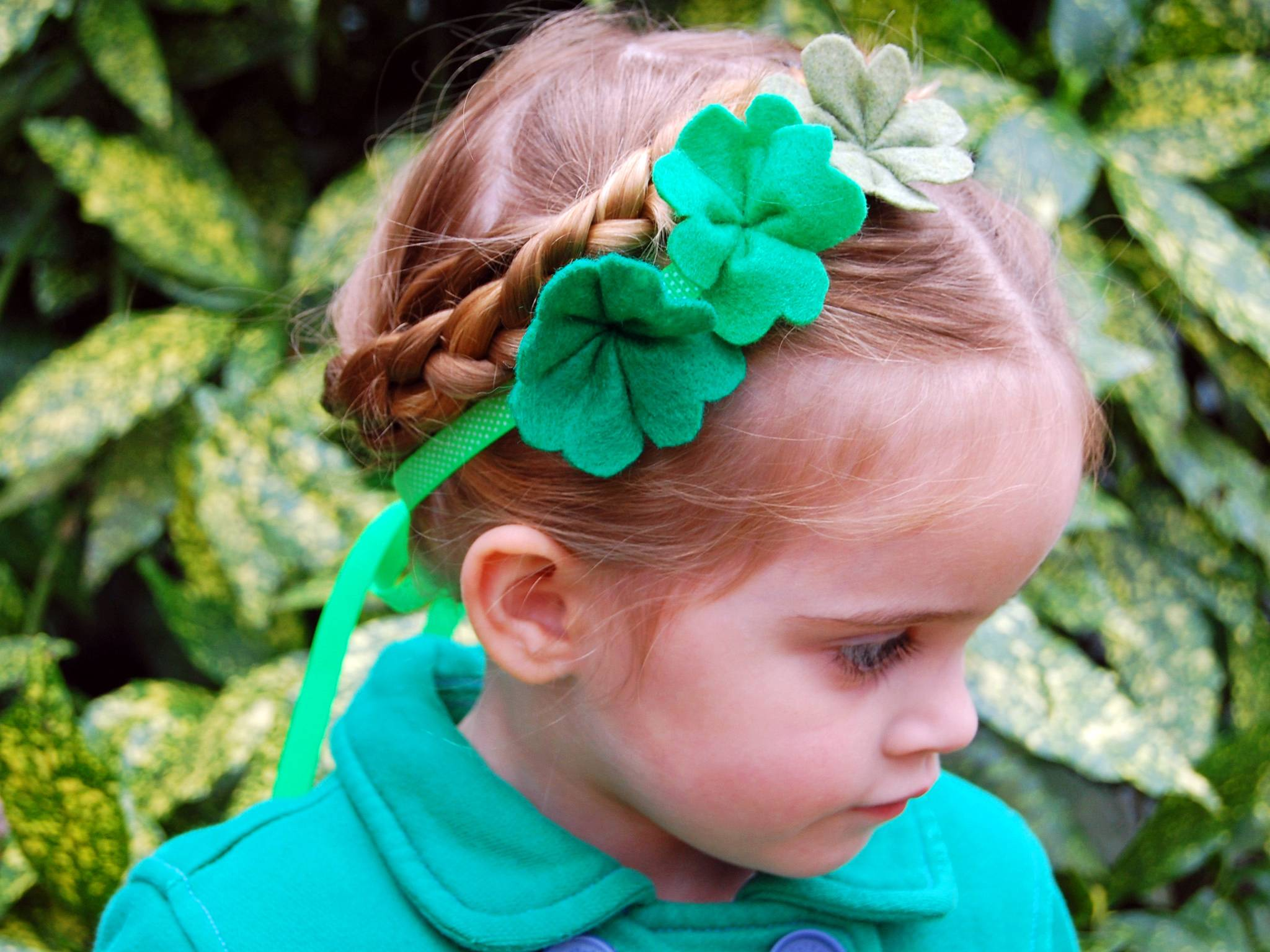 "A felt shamrock craft provides a pretty way to wear some green. ""Once you know how to make these shamrocks then when we get to spring you can make them in different colors and have a bouquet of flowers,"" says Marianne Canada, host of HGTV.com's Weekday Crafternoon."