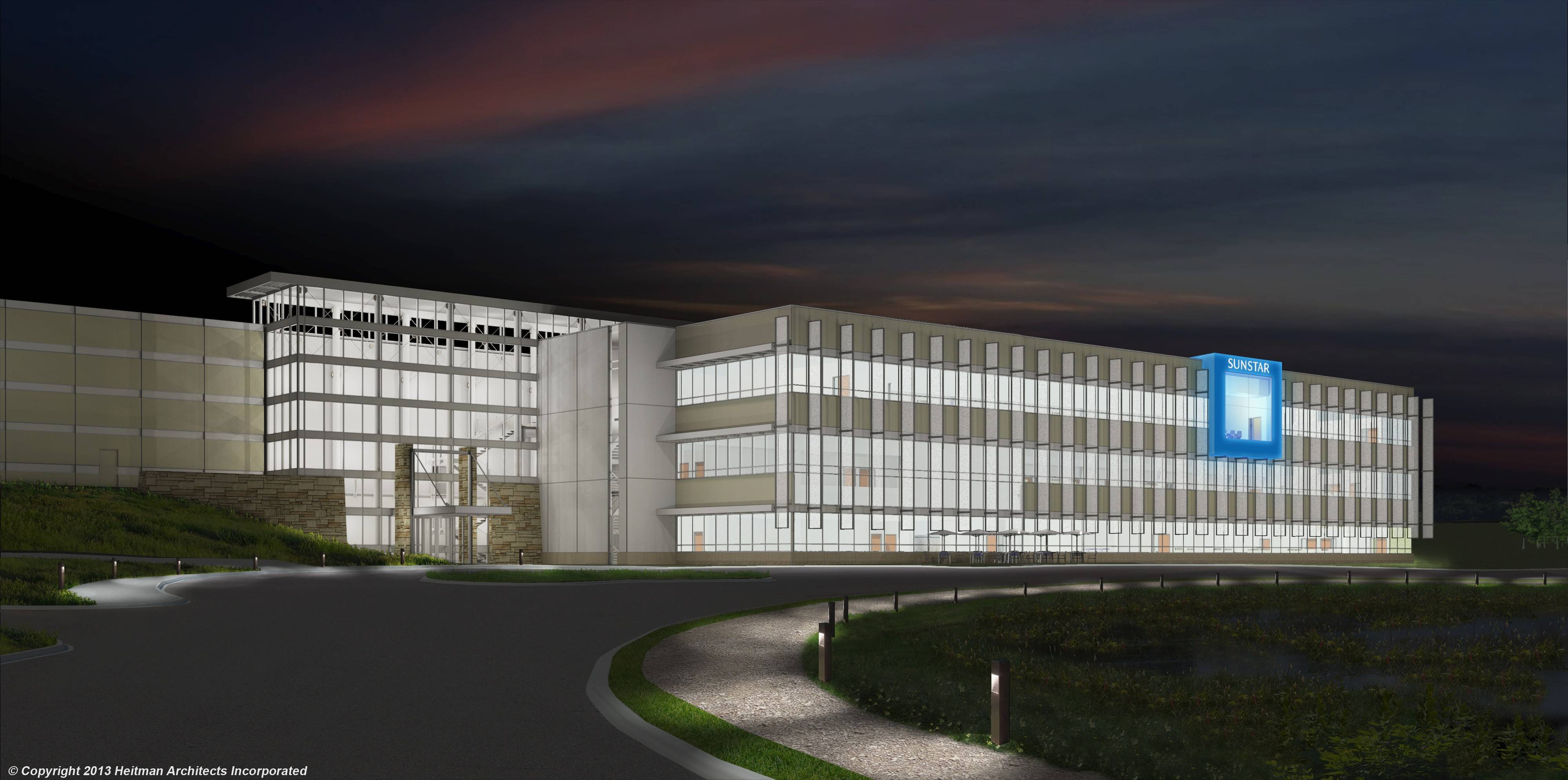 Sunstar Americas Inc.'s 302,000-square-foot North American headquarters is expected to bring 400 new jobs to Schaumburg. The building will sit north of the Jane Addams Memorial Tollway east of Roselle Road.