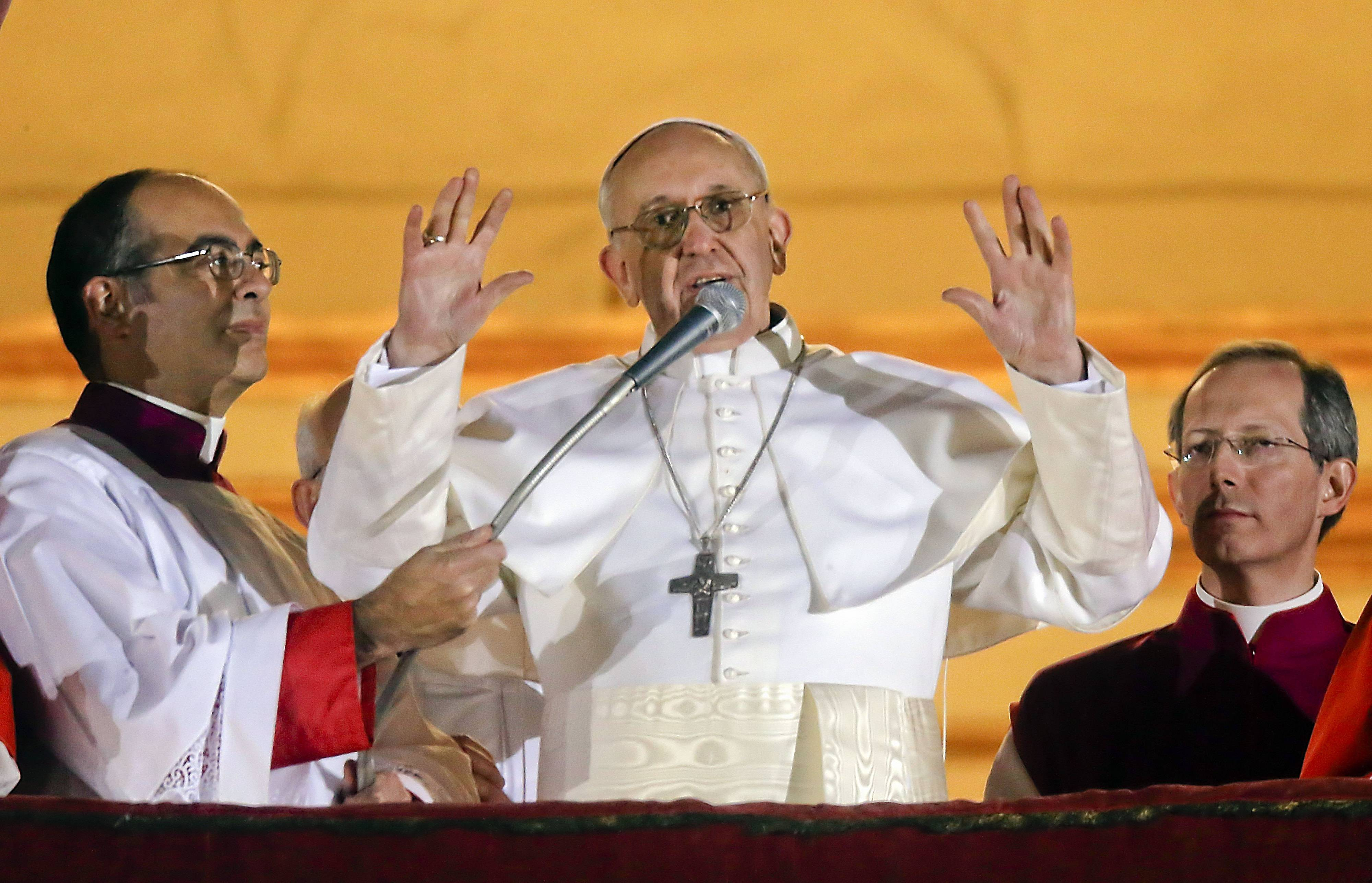 Pope sees banner first year, but expectations high
