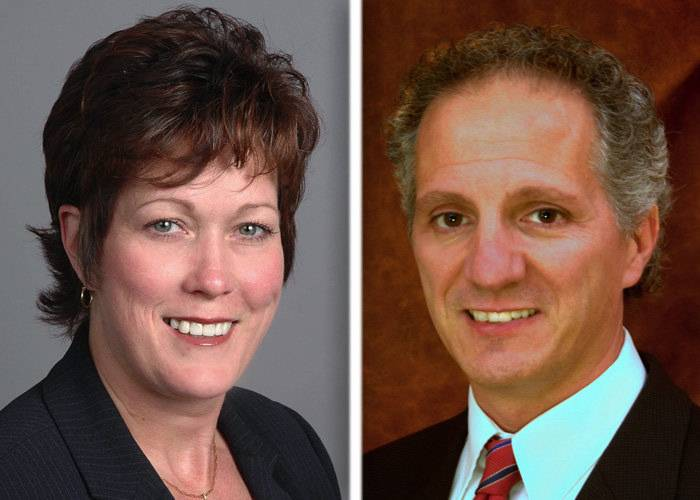 Mary McClellan and Nick Provenzano are candidates for McHenry County clerk.