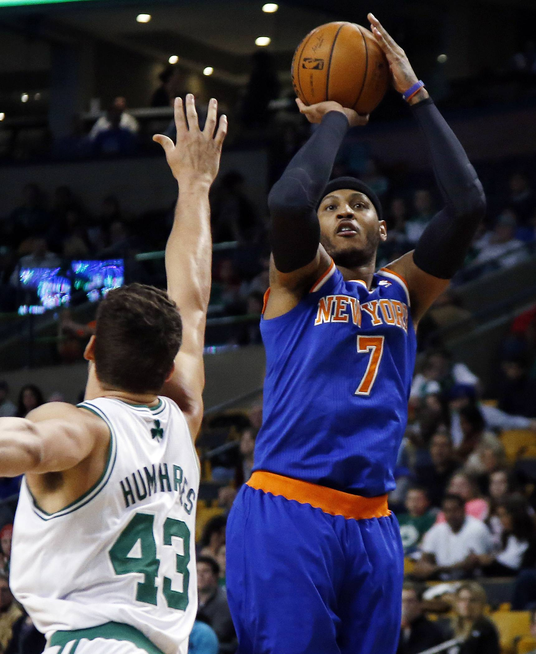 Carmelo Anthony spoke briefly Wednesday about the pending arrival of Phil Jackson to run the New York Knicks' basketball operation.