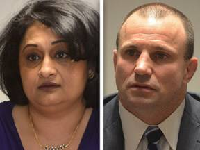 Manju Goel, left, and Larry Kaifesh, right, are Republican candidates for the 8th Congressional District.