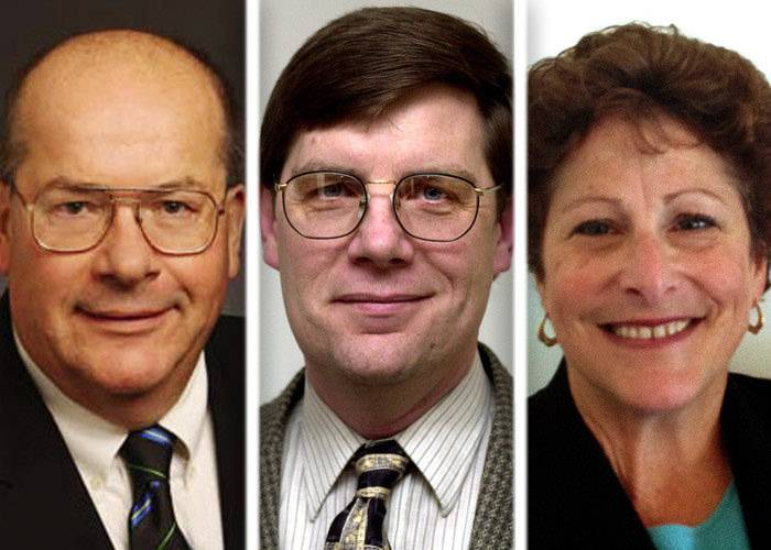 Chuck Bartels, left, Cornelius Shanahan, and Terri Voss are candidates in the race for Lake County Board District 10 in the 2014 GOP primary.