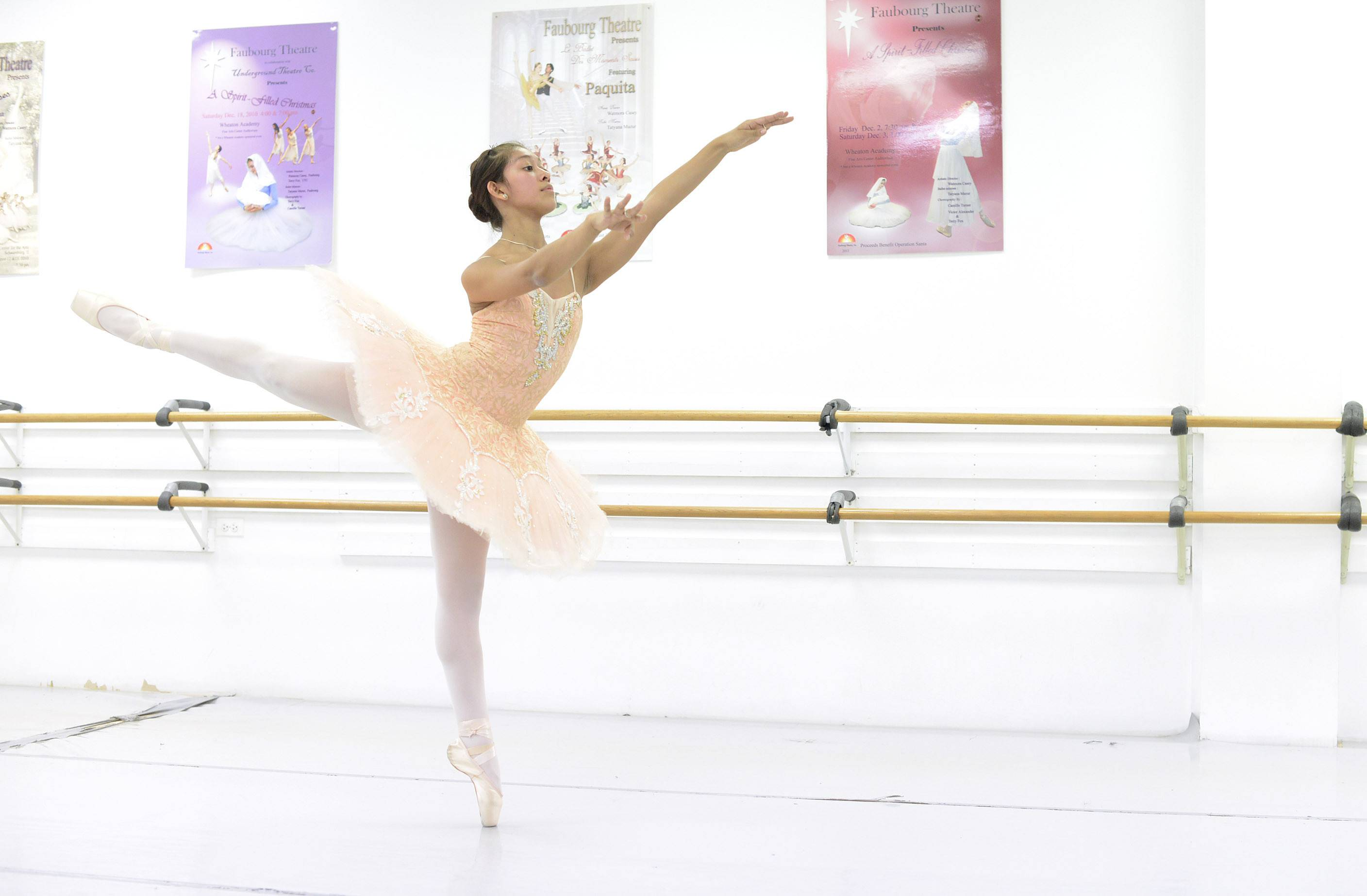 Dancer Jasmine Getz of Sleepy Hollow, a student at Hampshire High School, practices at Faubourg School of Ballet in Hanover Park. In December, Jasmine became the first American to win a world title in her age group in pointe/ballet at the International Dance Organization's world championships held in Poland.