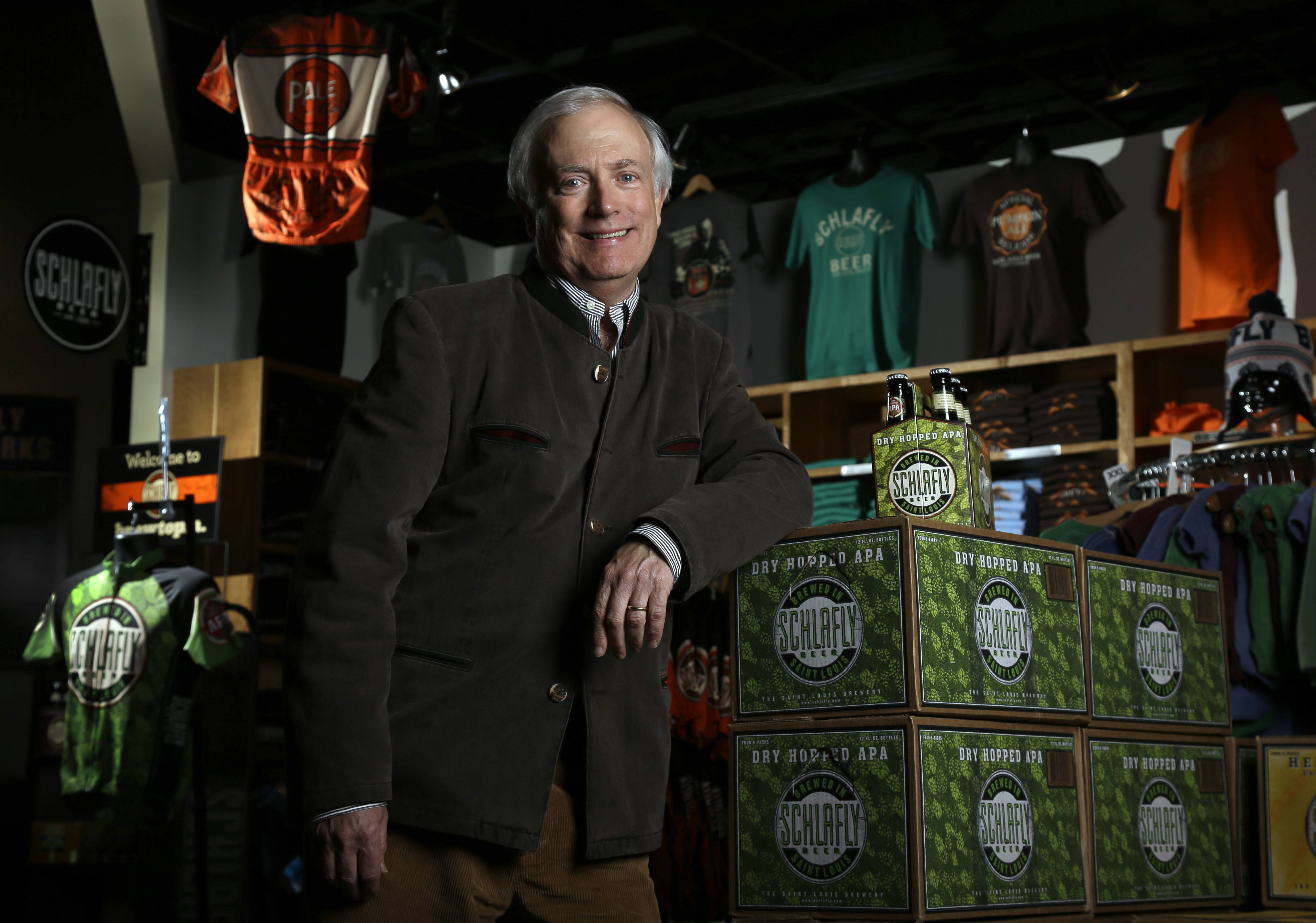 Tom Schlafly, co-founder of the brewery which produces the Schlafly brand of beers in Maplewood, Mo., has been in a trademark dispute with his aunt, conservative activist Phyllis Schlafly, over whether Schlafly is primarily a last name or a commercial brand that deserves legal protection.