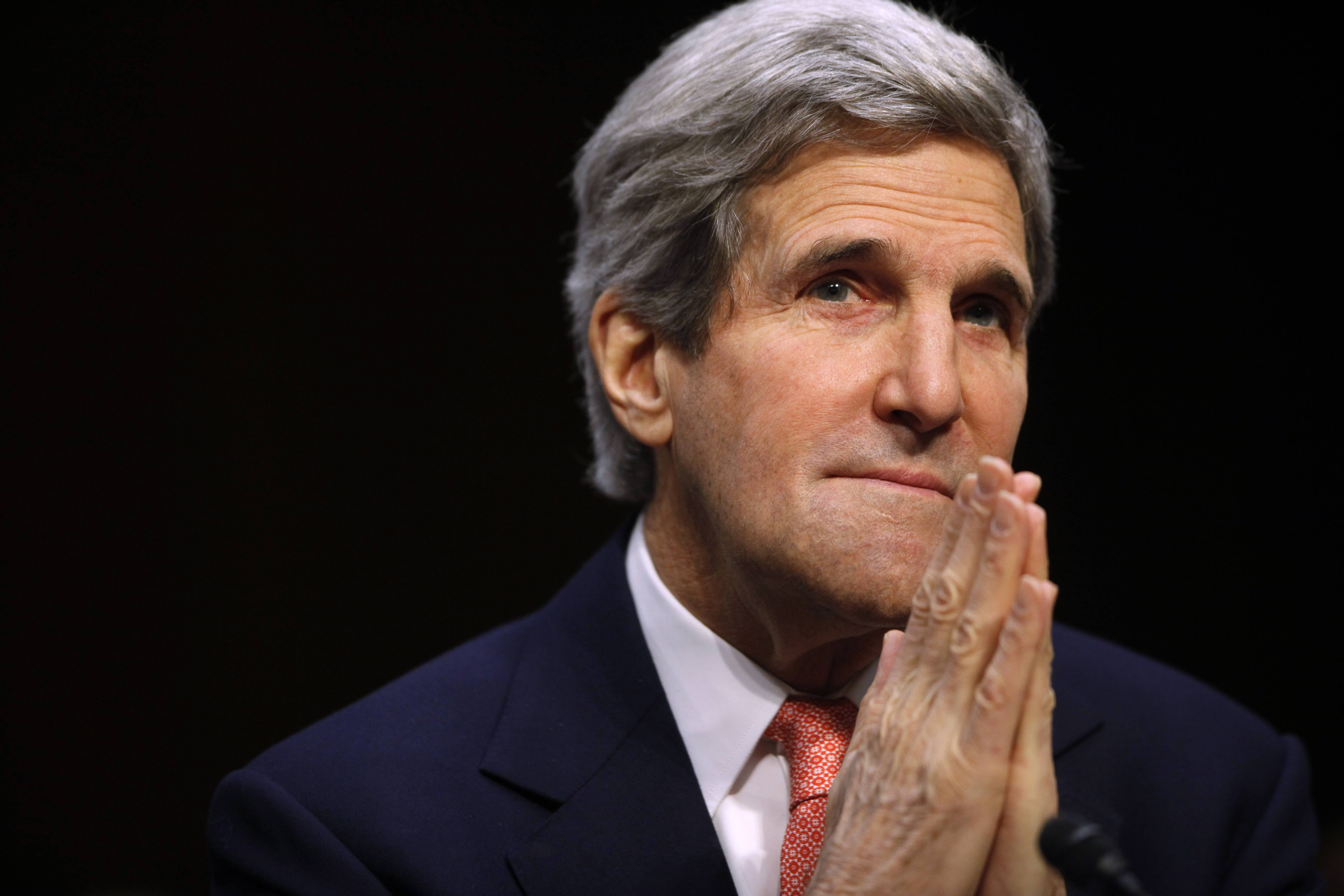 Secretary of State John Kerry testifies before the Senate Appropriations subcommittee on Foreign Operations and Related Programs on Thursday. In his opening remarks he spoke about Ukraine and other current foreign relation issues.