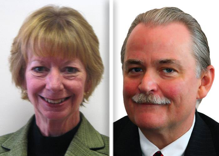 Glenda Miller and Jeffrey Thorsen are candidates in Tuesday's GOP primary for McHenry County treasurer.