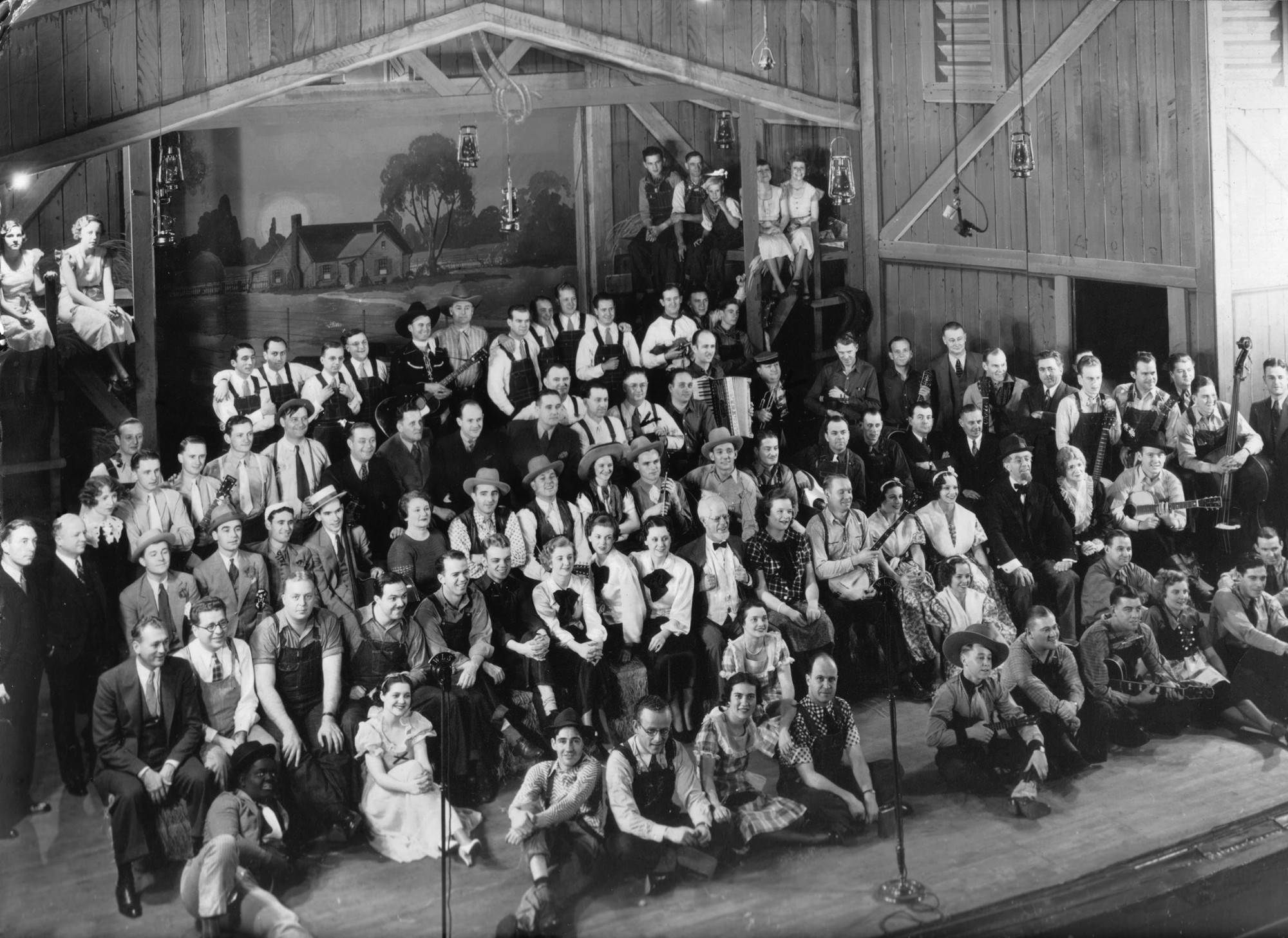 National Barn Dance cast, circa 1936.